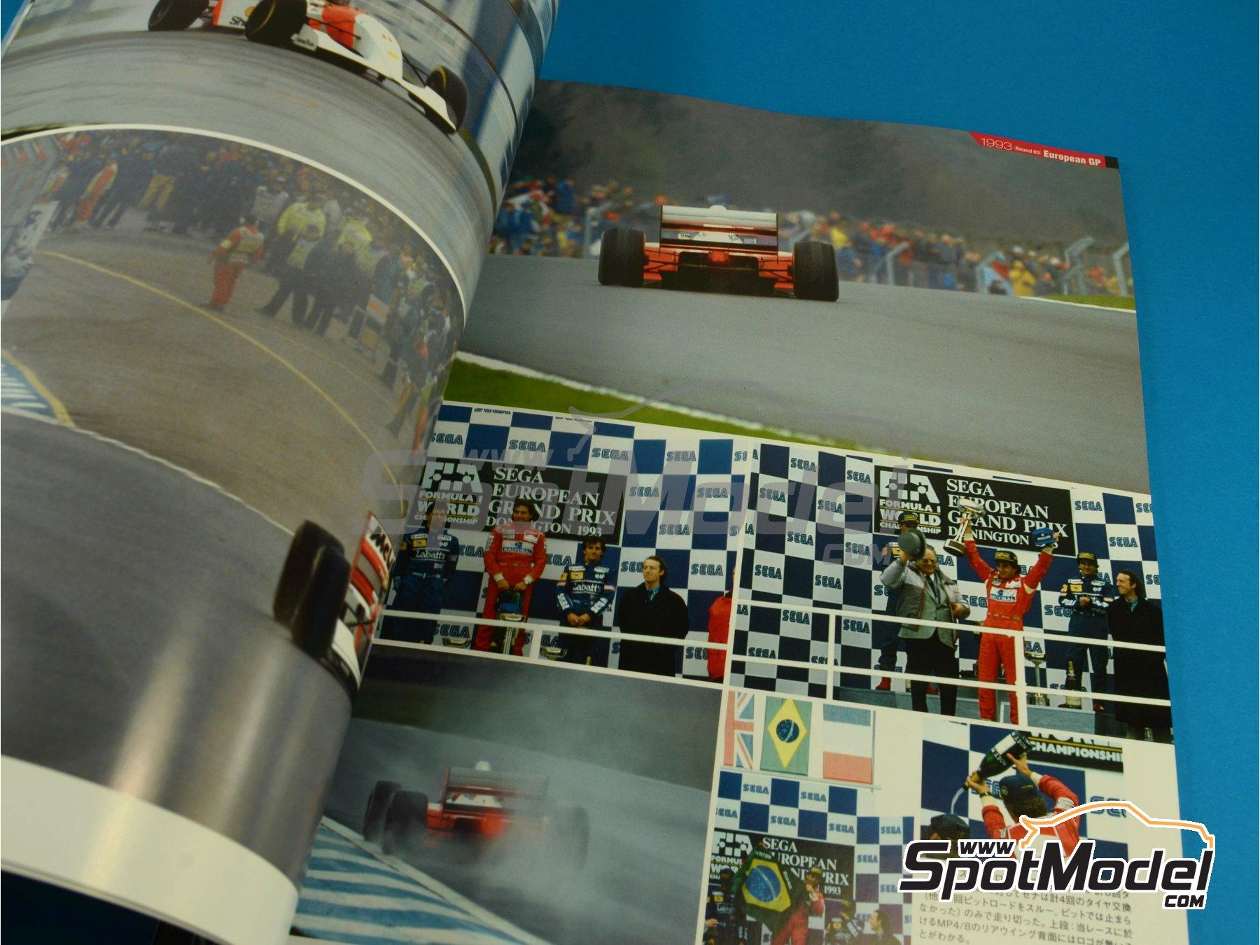 Image 2: JOE HONDA Racing Pictorial Series - MP4/8 - Campeonato del Mundo de Formula1 1993 | Libro de referencia fabricado por Model Factory Hiro (ref.MFH-JH31)