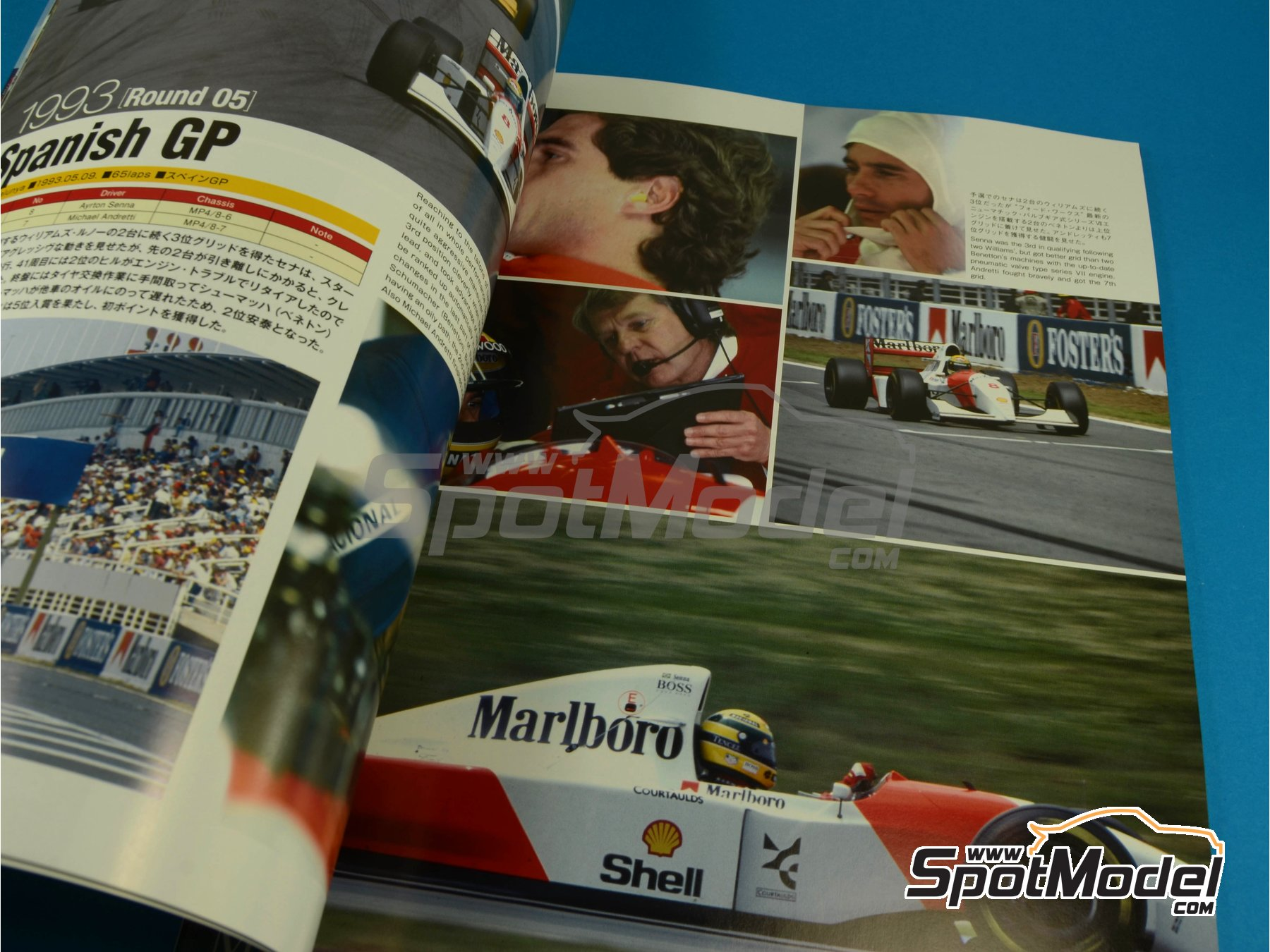 Image 3: JOE HONDA Racing Pictorial Series - MP4/8 - Campeonato del Mundo de Formula1 1993 | Libro de referencia fabricado por Model Factory Hiro (ref.MFH-JH31)