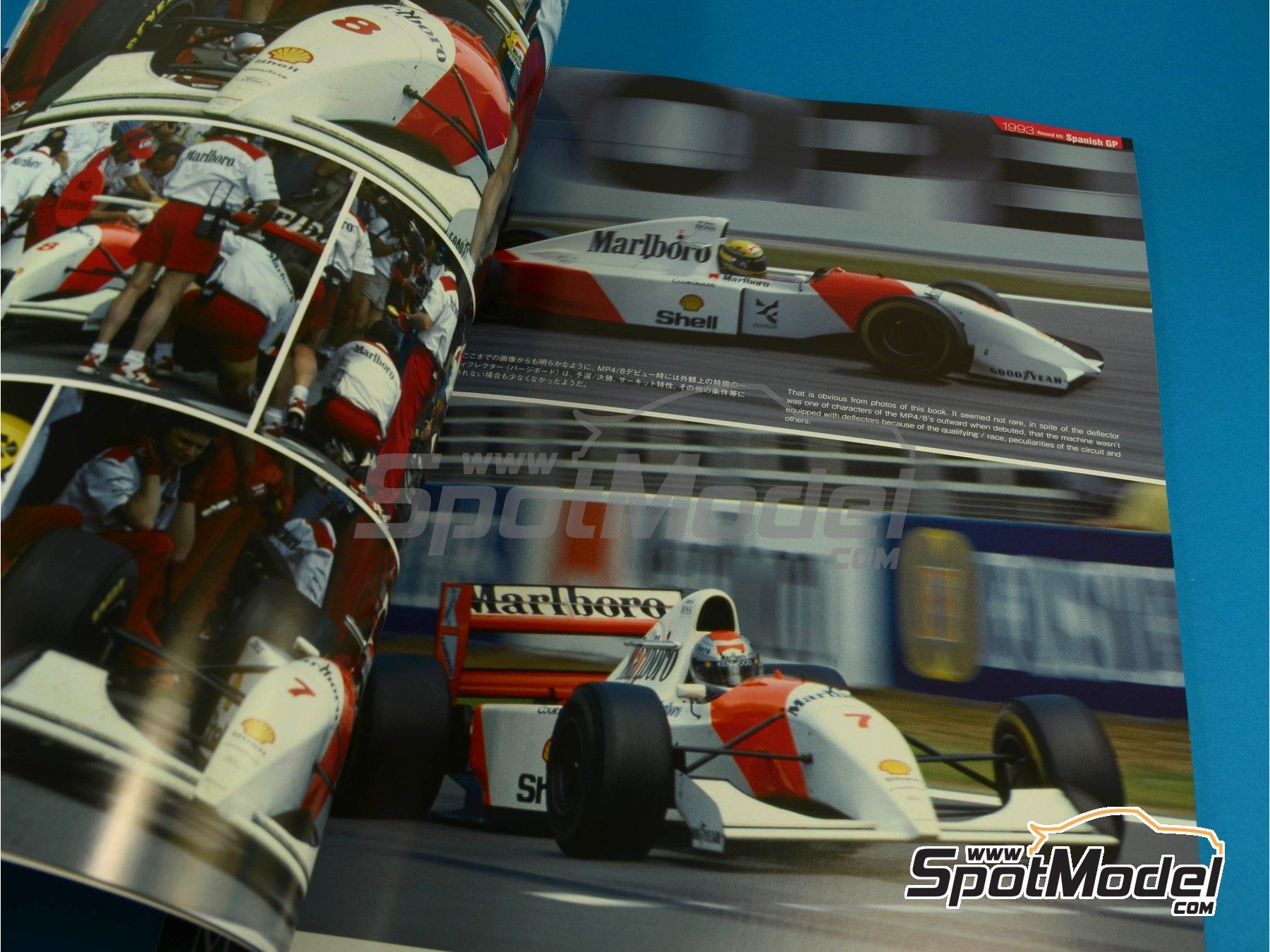 Image 4: JOE HONDA Racing Pictorial Series - MP4/8 - Campeonato del Mundo de Formula1 1993 | Libro de referencia fabricado por Model Factory Hiro (ref.MFH-JH31)