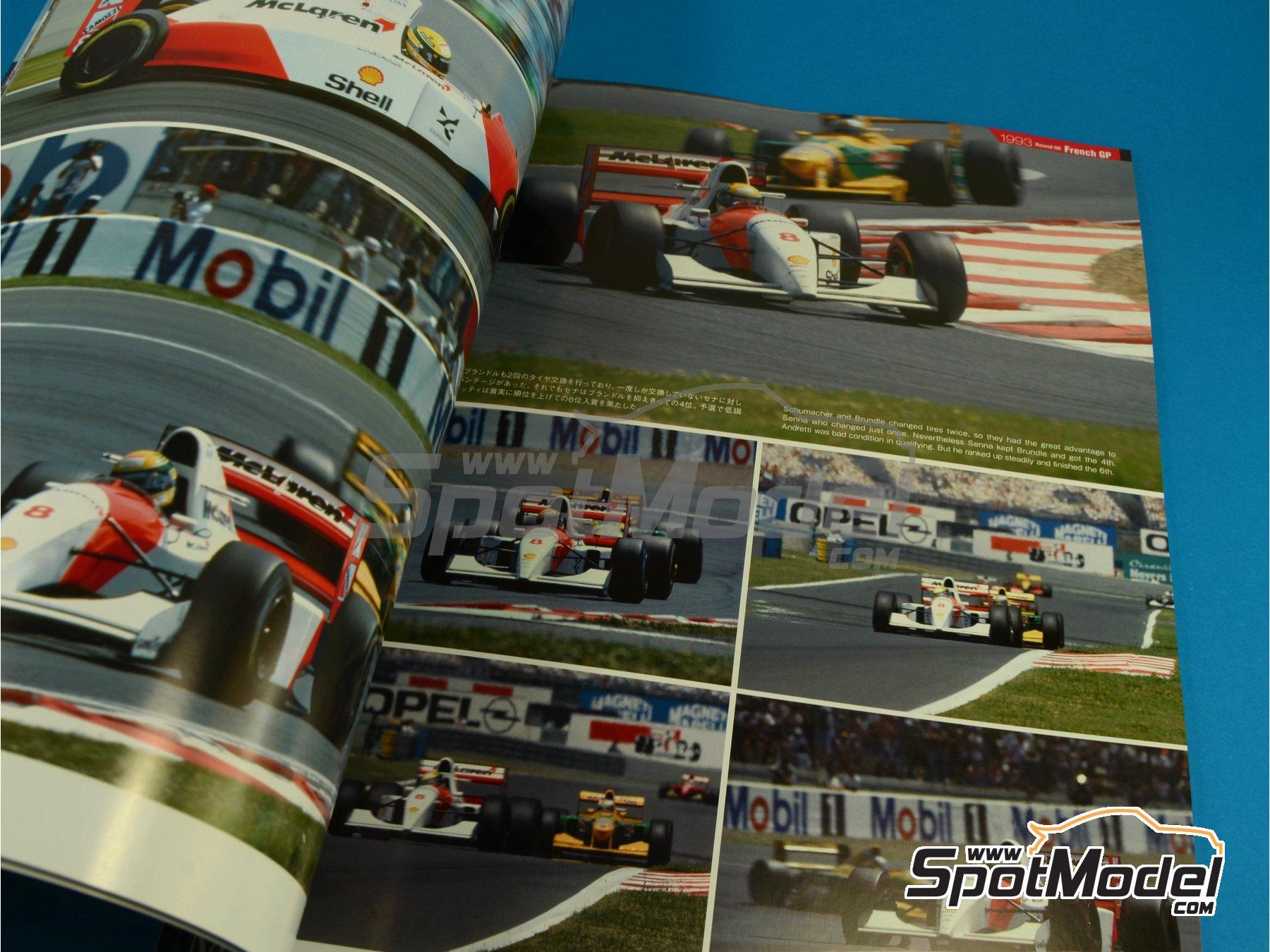 Image 5: JOE HONDA Racing Pictorial Series - MP4/8 - Campeonato del Mundo de Formula1 1993 | Libro de referencia fabricado por Model Factory Hiro (ref.MFH-JH31)