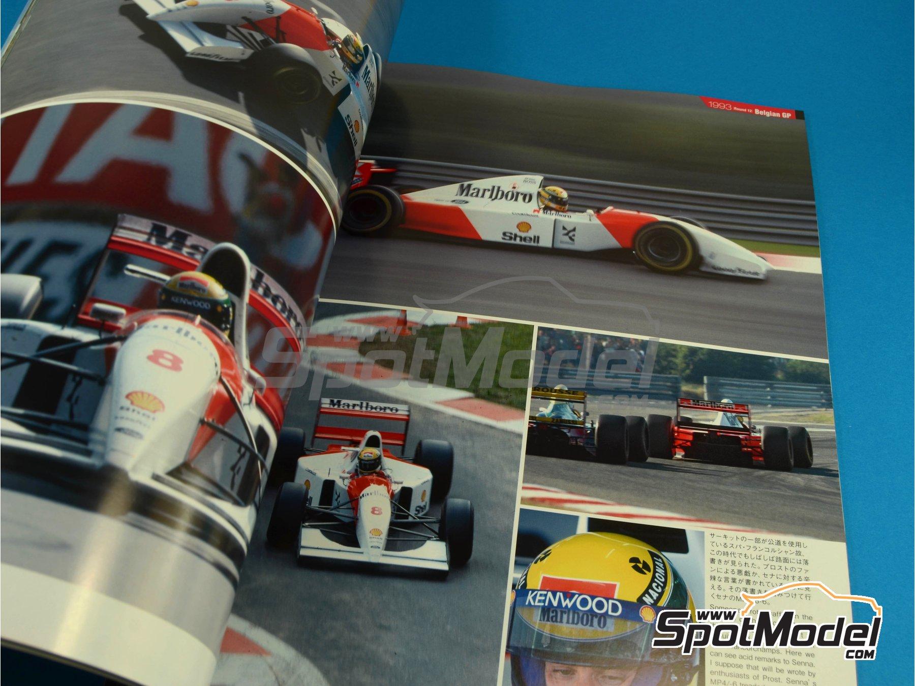 Image 6: JOE HONDA Racing Pictorial Series - MP4/8 - Campeonato del Mundo de Formula1 1993 | Libro de referencia fabricado por Model Factory Hiro (ref.MFH-JH31)