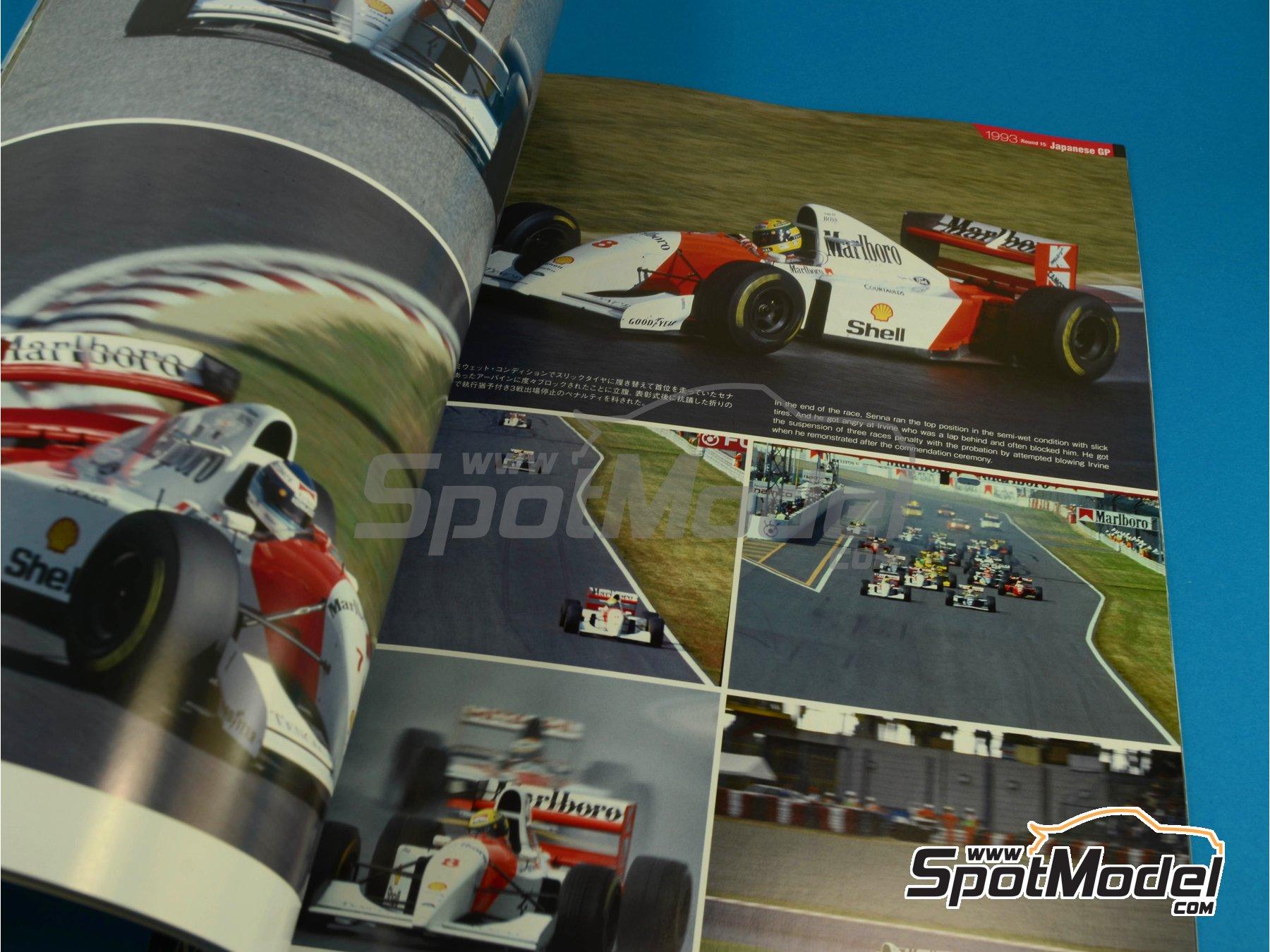 Image 7: JOE HONDA Racing Pictorial Series - MP4/8 - Campeonato del Mundo de Formula1 1993 | Libro de referencia fabricado por Model Factory Hiro (ref.MFH-JH31)