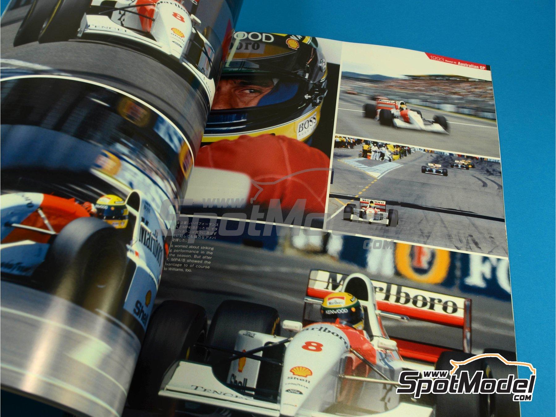 Image 8: JOE HONDA Racing Pictorial Series - MP4/8 - Campeonato del Mundo de Formula1 1993 | Libro de referencia fabricado por Model Factory Hiro (ref.MFH-JH31)