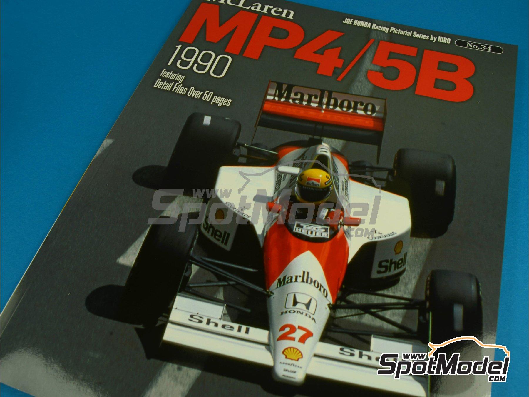 Image 1: JOE HONDA Racing Pictorial Series - MP4/5B - FIA Formula 1 World Championship 1990 | Reference / walkaround book manufactured by Model Factory Hiro (ref.MFH-JH34)
