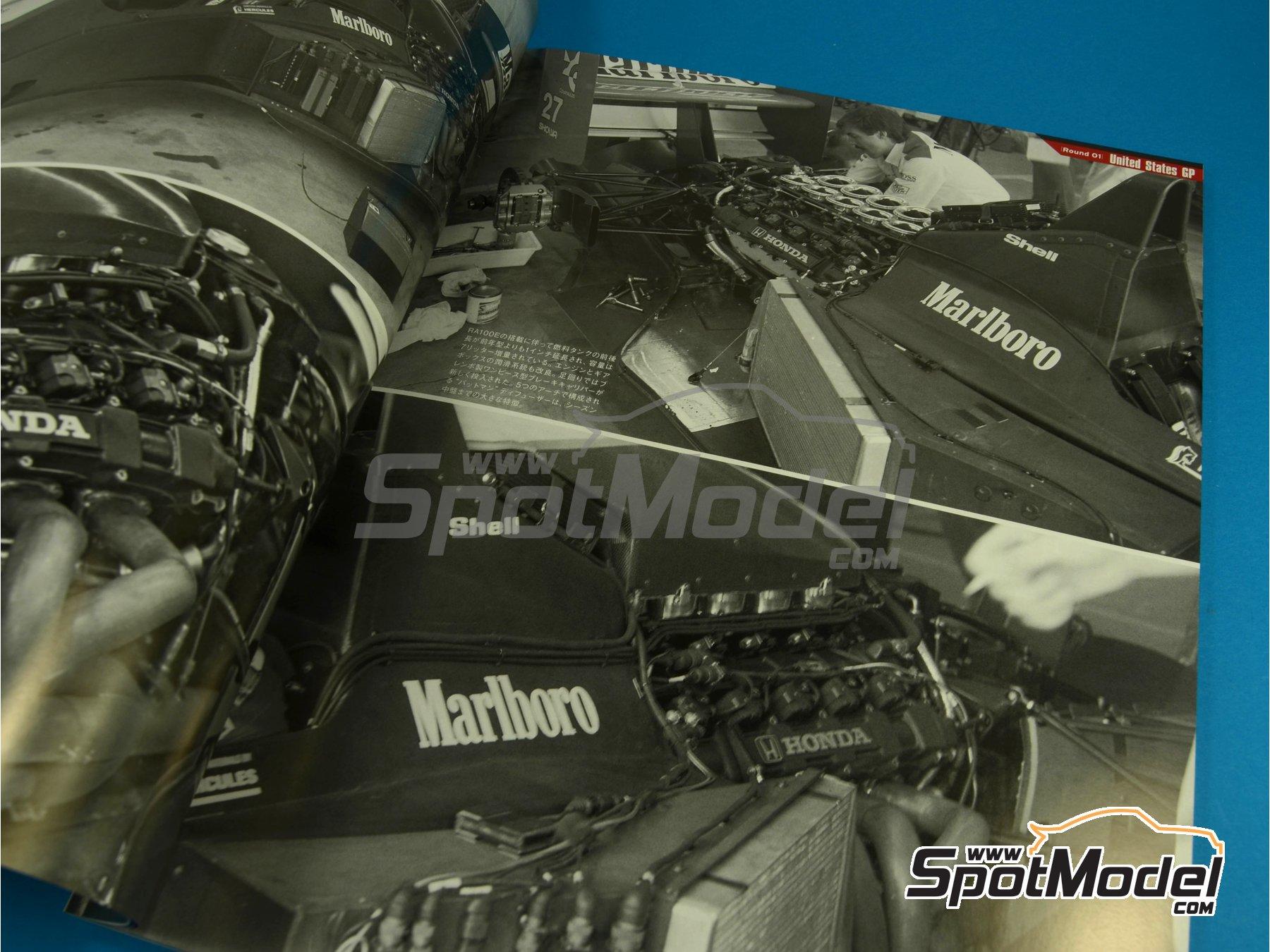 Image 2: JOE HONDA Racing Pictorial Series - MP4/5B - FIA Formula 1 World Championship 1990 | Reference / walkaround book manufactured by Model Factory Hiro (ref.MFH-JH34)