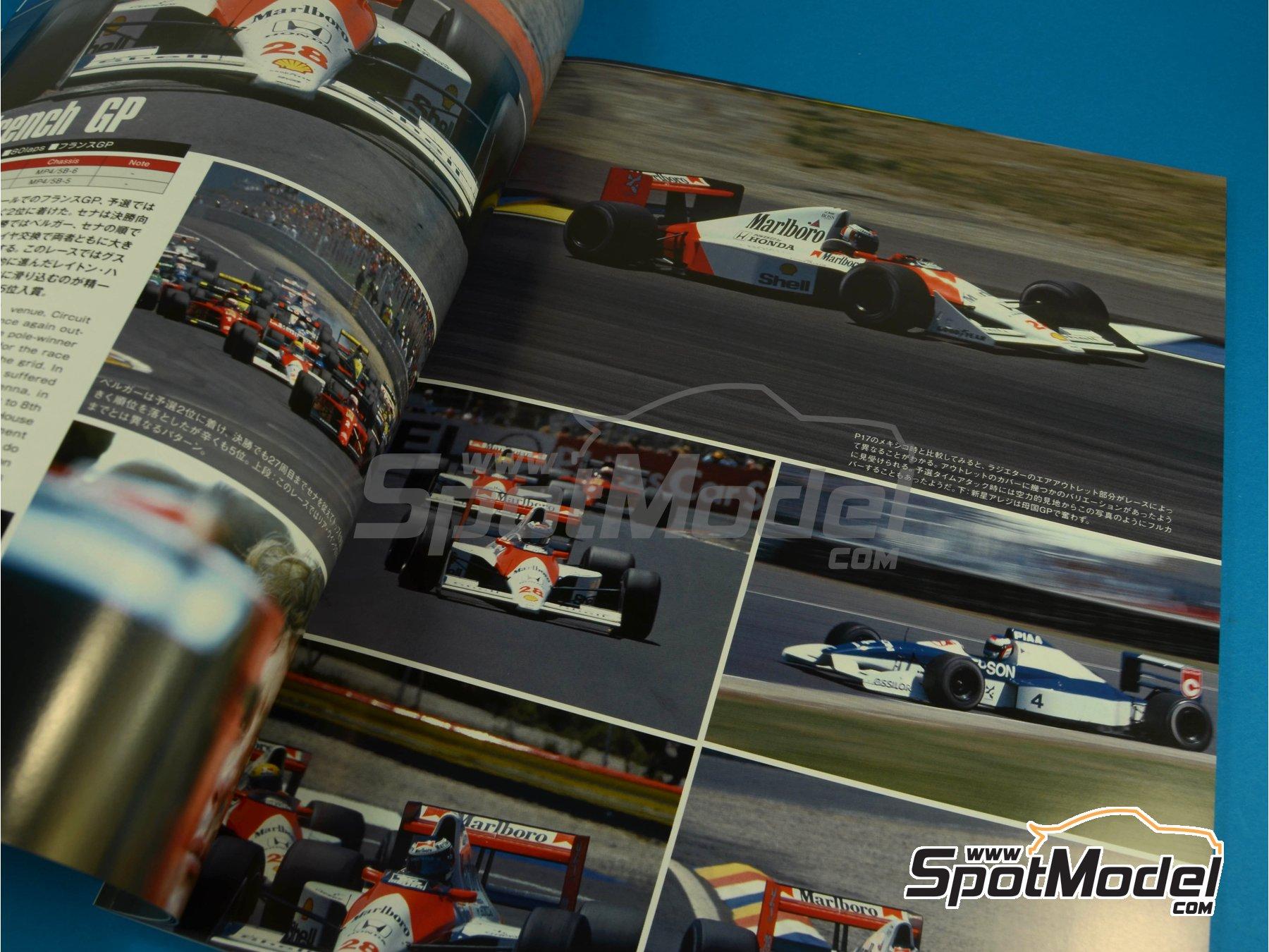 Image 3: JOE HONDA Racing Pictorial Series - MP4/5B - FIA Formula 1 World Championship 1990 | Reference / walkaround book manufactured by Model Factory Hiro (ref.MFH-JH34)