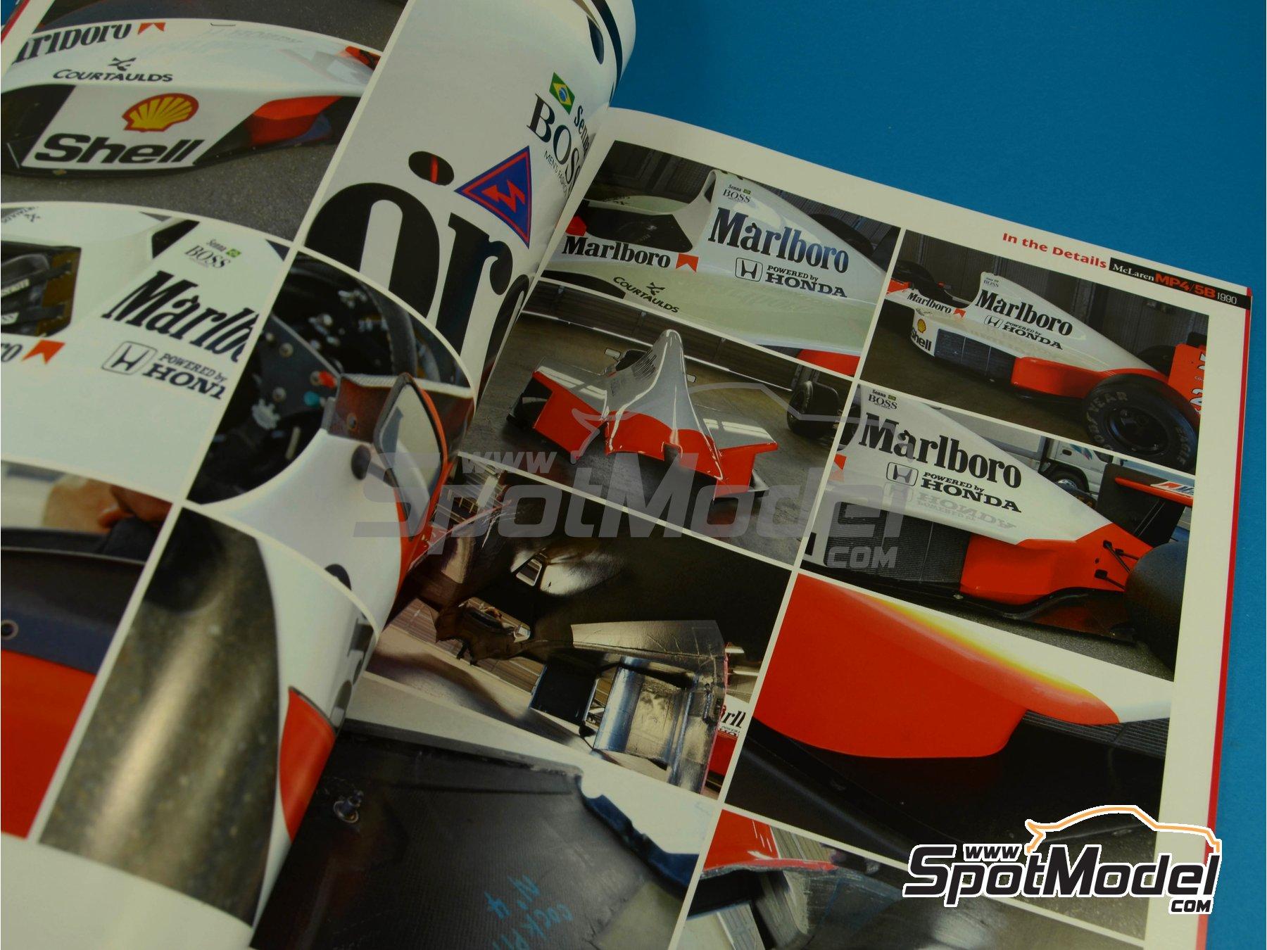 Image 7: JOE HONDA Racing Pictorial Series - MP4/5B - FIA Formula 1 World Championship 1990 | Reference / walkaround book manufactured by Model Factory Hiro (ref.MFH-JH34)