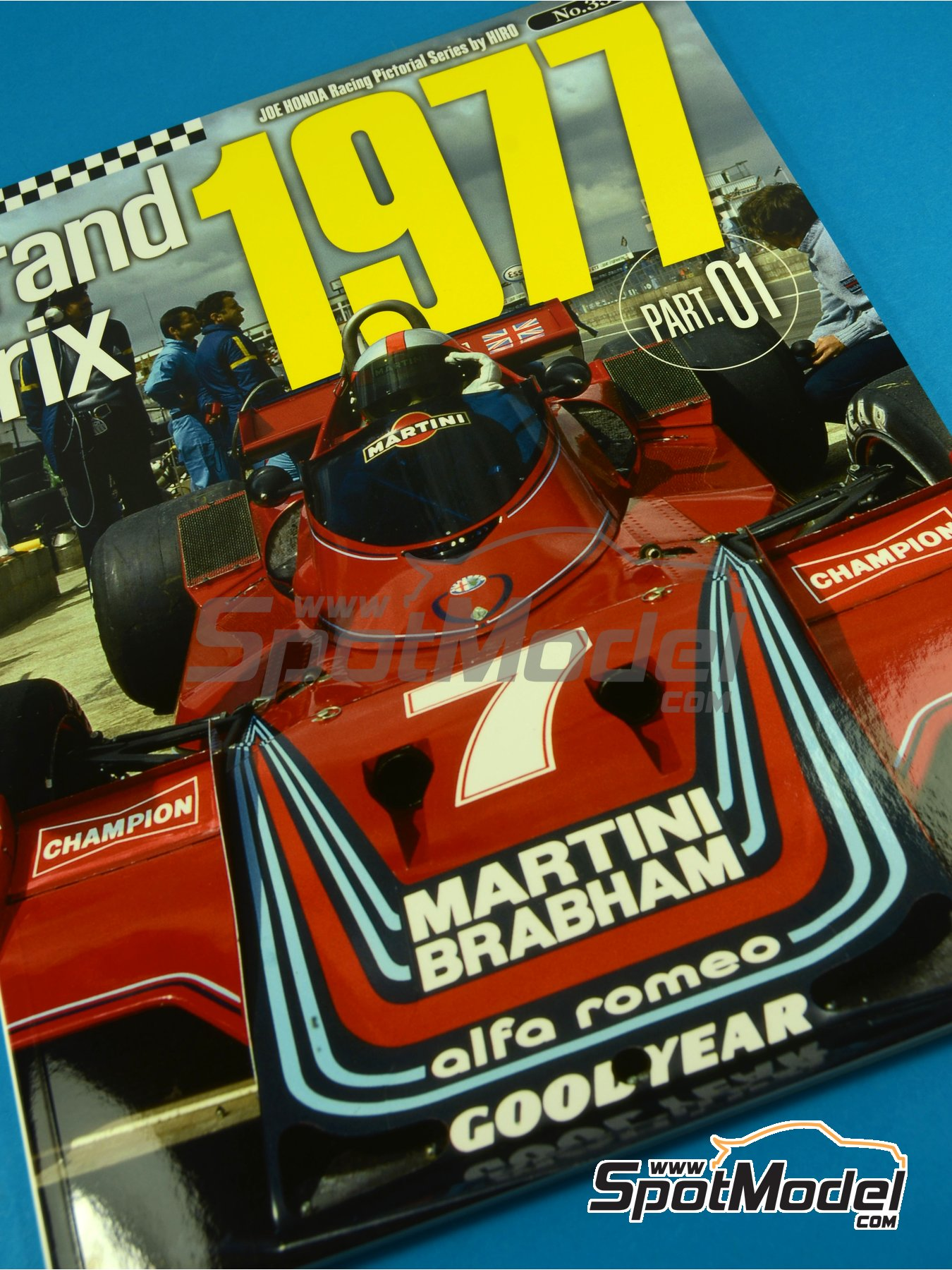 Joe Honda Racing Pictorial Series - Grand Prix 1977, Part 01 | Reference / walkaround book manufactured by Model Factory Hiro (ref. MFH-JH35) image