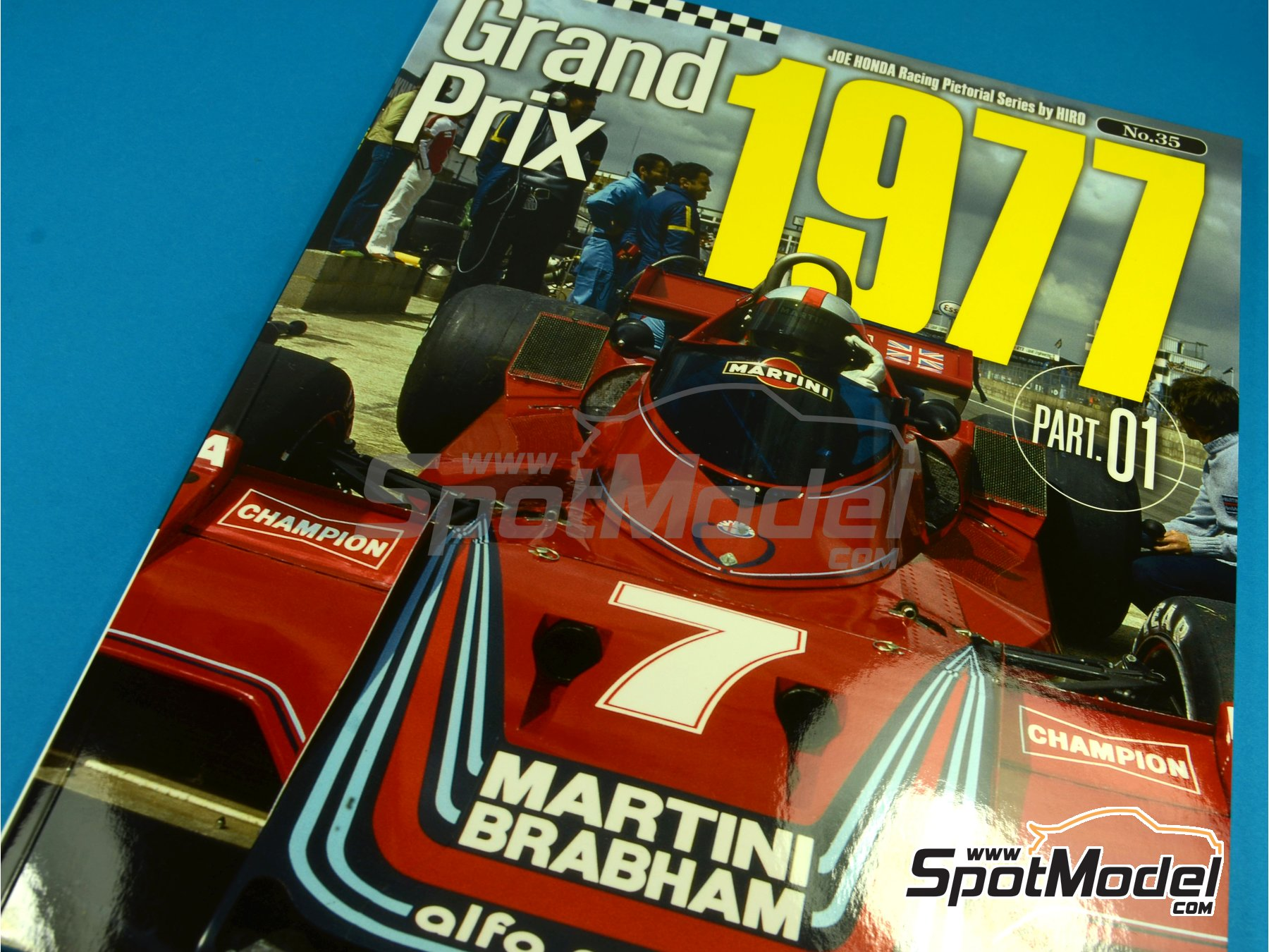 Image 1: Joe Honda Racing Pictorial Series - Grand Prix 1977, Part 01 | Reference / walkaround book manufactured by Model Factory Hiro (ref. MFH-JH35)