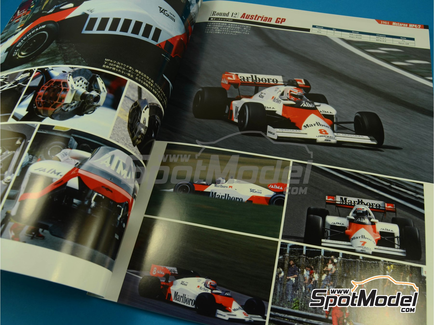 Image 2: JOE HONDA Racing Pictorial Series - Grand Prix -  1984 | Reference / walkaround book manufactured by Model Factory Hiro (ref. MFH-JH37)