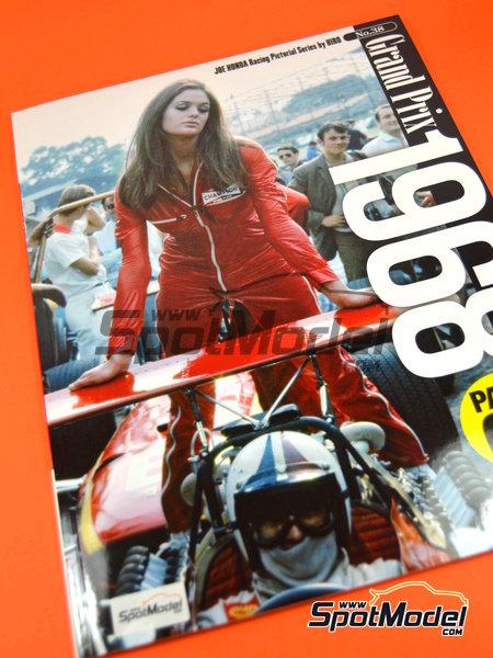 Joe Honda Racing Pictorial Series: Grand Prix 1968, parte 1 -  1968 | Libro de referencia fabricado por Model Factory Hiro (ref.MFH-JH38) image