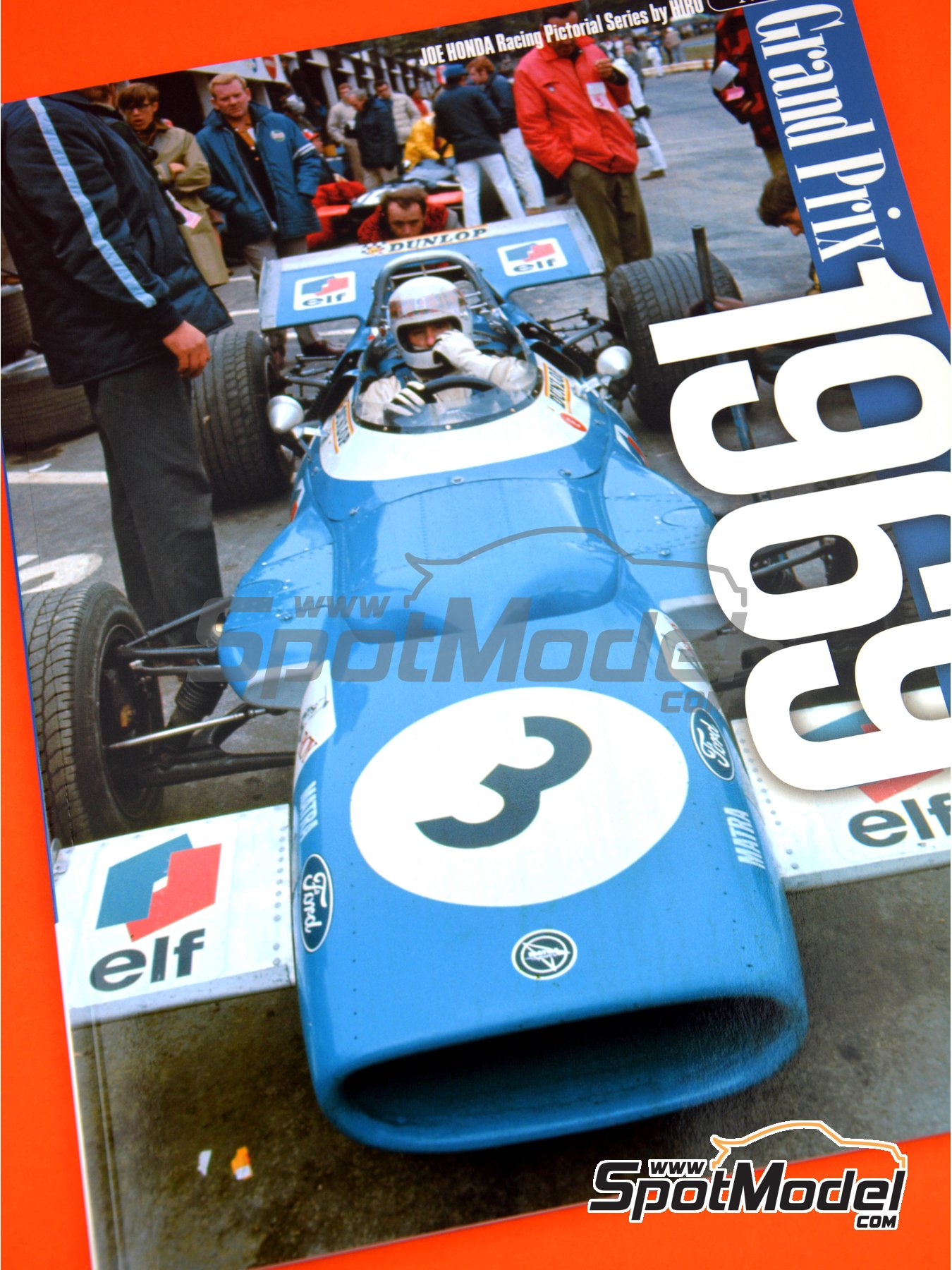 Joe Honda Racing Pictorial Series: Grand Prix - FIA Formula 1 World Championship 1969 | Reference / walkaround book manufactured by Model Factory Hiro (ref. MFH-JH41) image