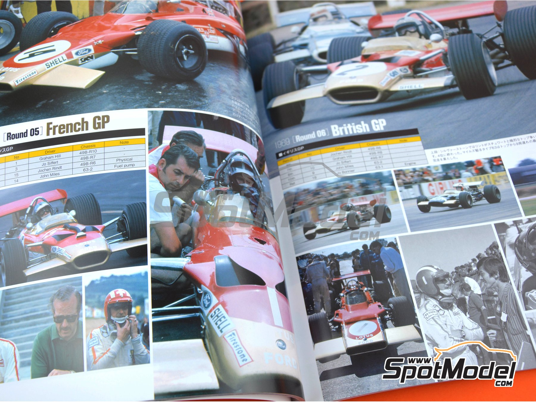 Image 4: Joe Honda Racing Pictorial Series: Grand Prix - FIA Formula 1 World Championship 1969 | Reference / walkaround book manufactured by Model Factory Hiro (ref. MFH-JH41)