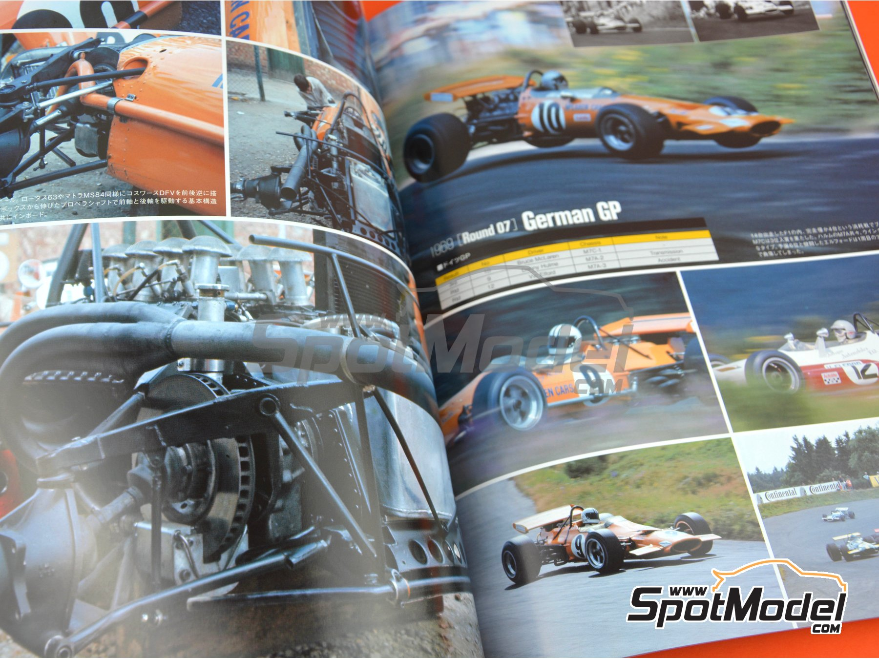 Image 5: Joe Honda Racing Pictorial Series: Grand Prix - FIA Formula 1 World Championship 1969 | Reference / walkaround book manufactured by Model Factory Hiro (ref. MFH-JH41)