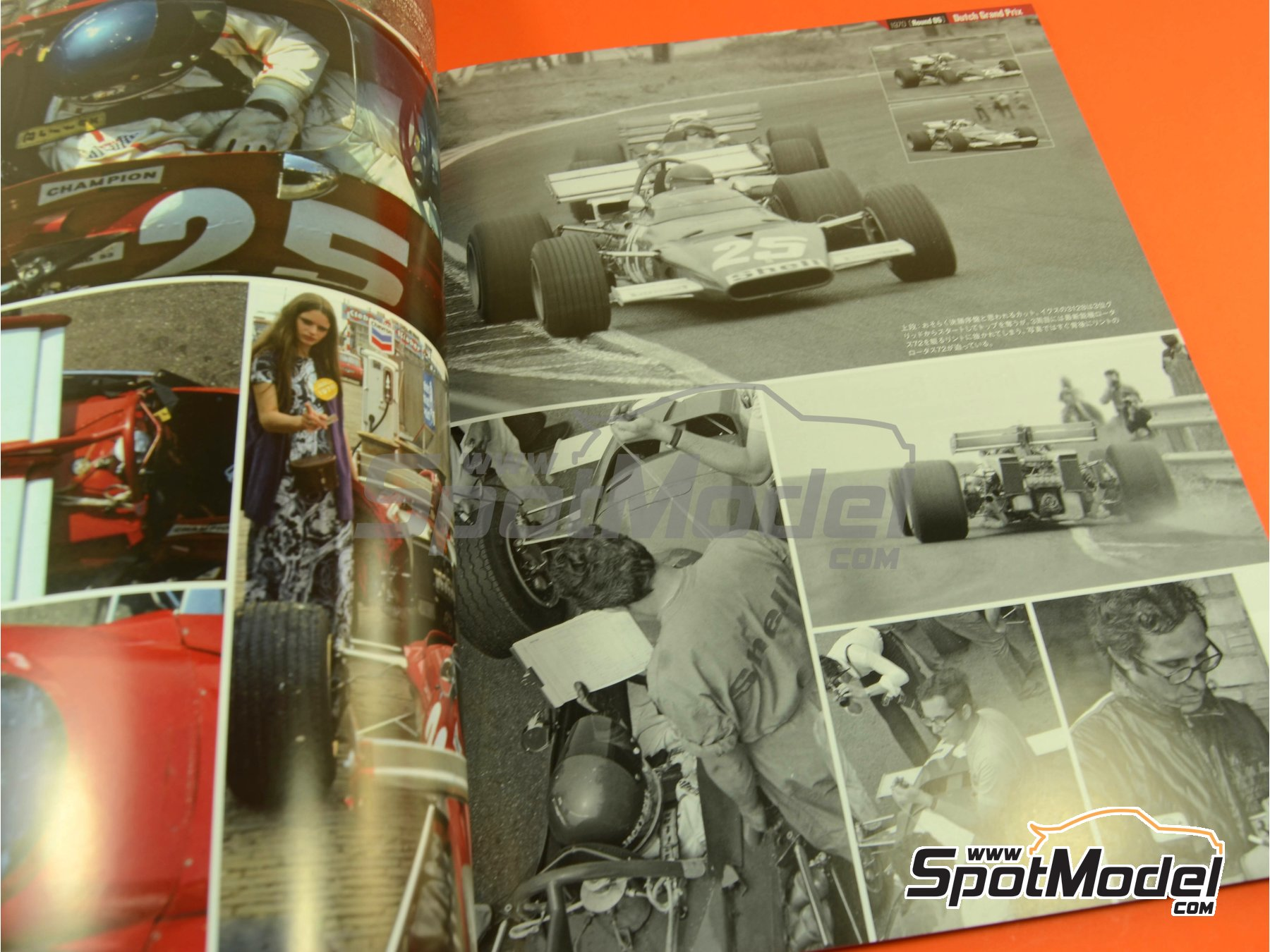 Image 3: Joe Honda Racing Pictorial Series: Grand Prix, part 1 -  1970 | Libro de referencia fabricado por Model Factory Hiro (ref.MFH-JH42)