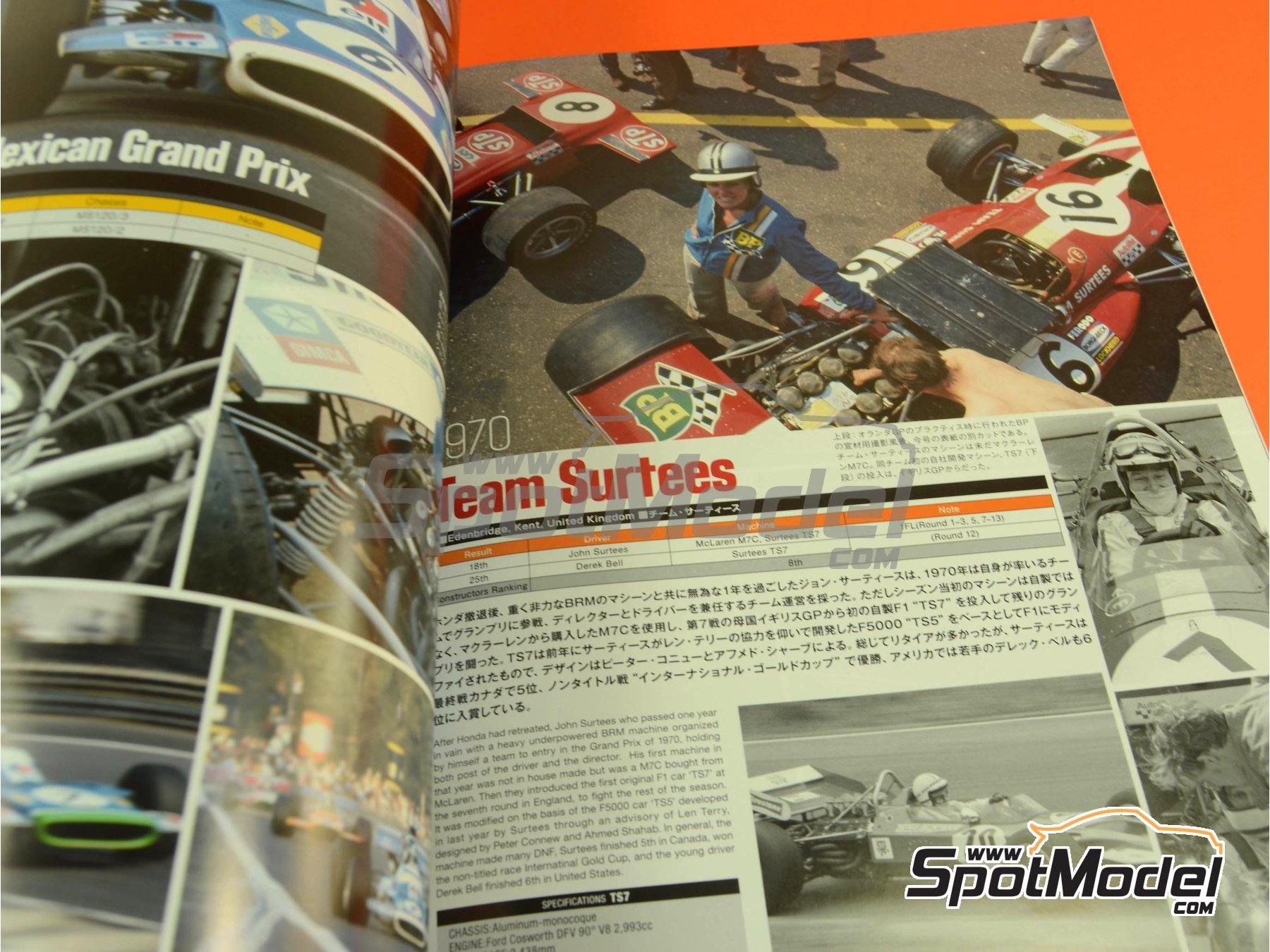 Image 8: Joe Honda Racing Pictorial Series: Grand Prix, part 1 -  1970 | Libro de referencia fabricado por Model Factory Hiro (ref.MFH-JH42)
