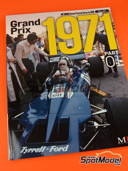 Joe Honda Racing Pictorial Series: Grand Prix, parte 1 -  1971 | Libro de referencia fabricado por Model Factory Hiro (ref. MFH-JH45) image