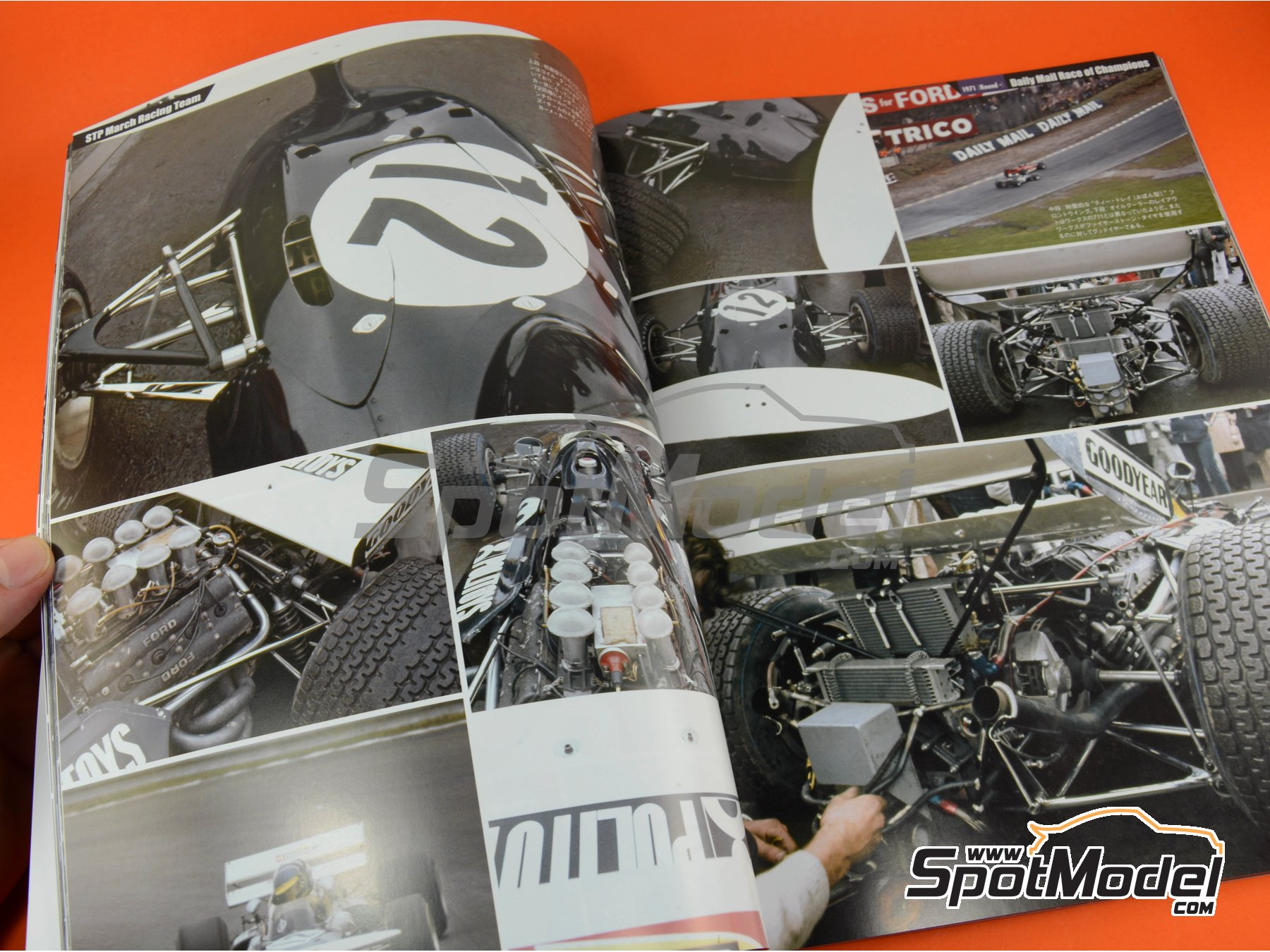 Image 4: Joe Honda Racing Pictorial Series: Grand Prix, parte 2 -  1971 | Libro de referencia fabricado por Model Factory Hiro (ref. MFH-JH46)