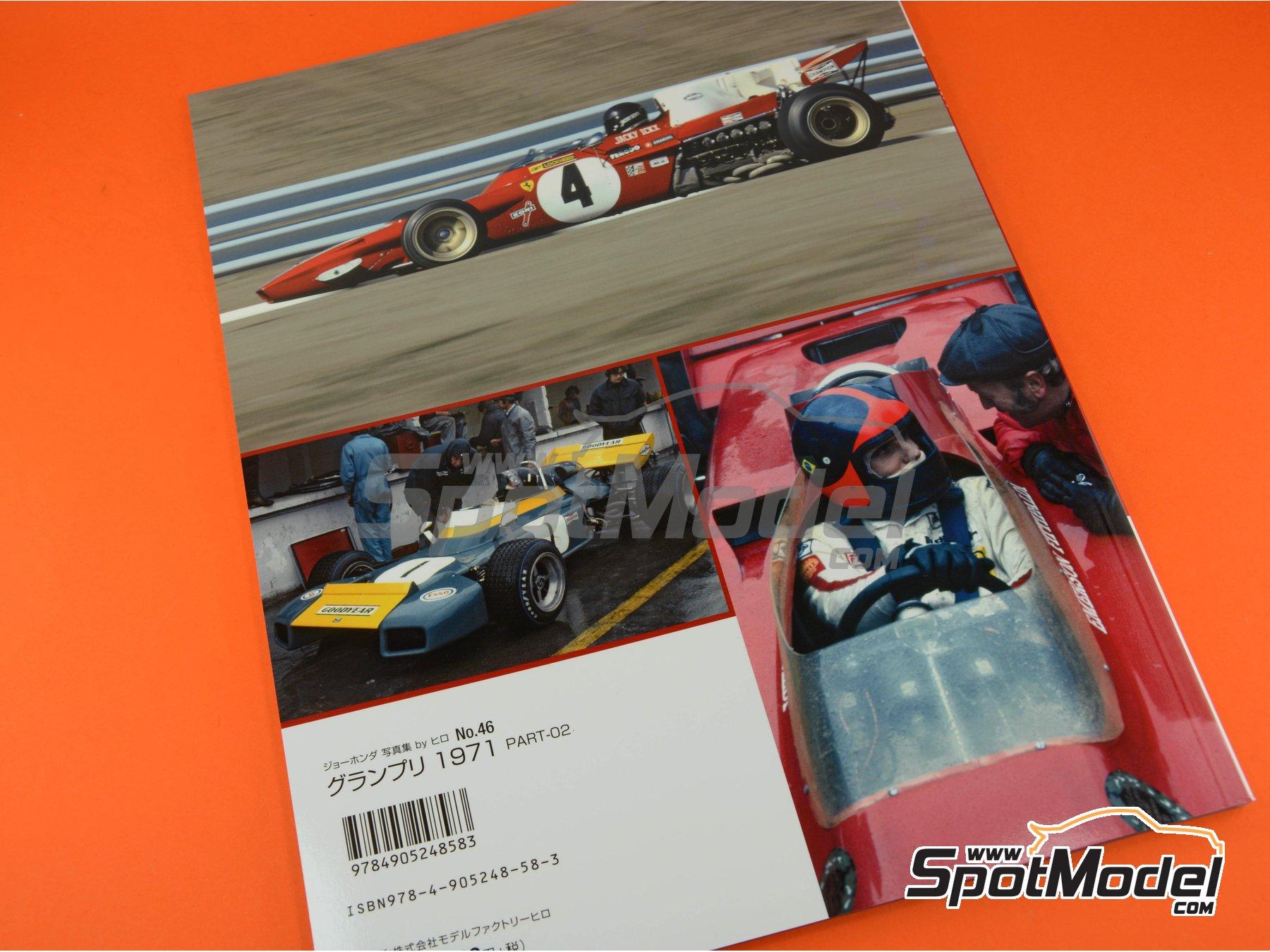 Image 6: Joe Honda Racing Pictorial Series: Grand Prix, parte 2 -  1971 | Libro de referencia fabricado por Model Factory Hiro (ref.MFH-JH46)
