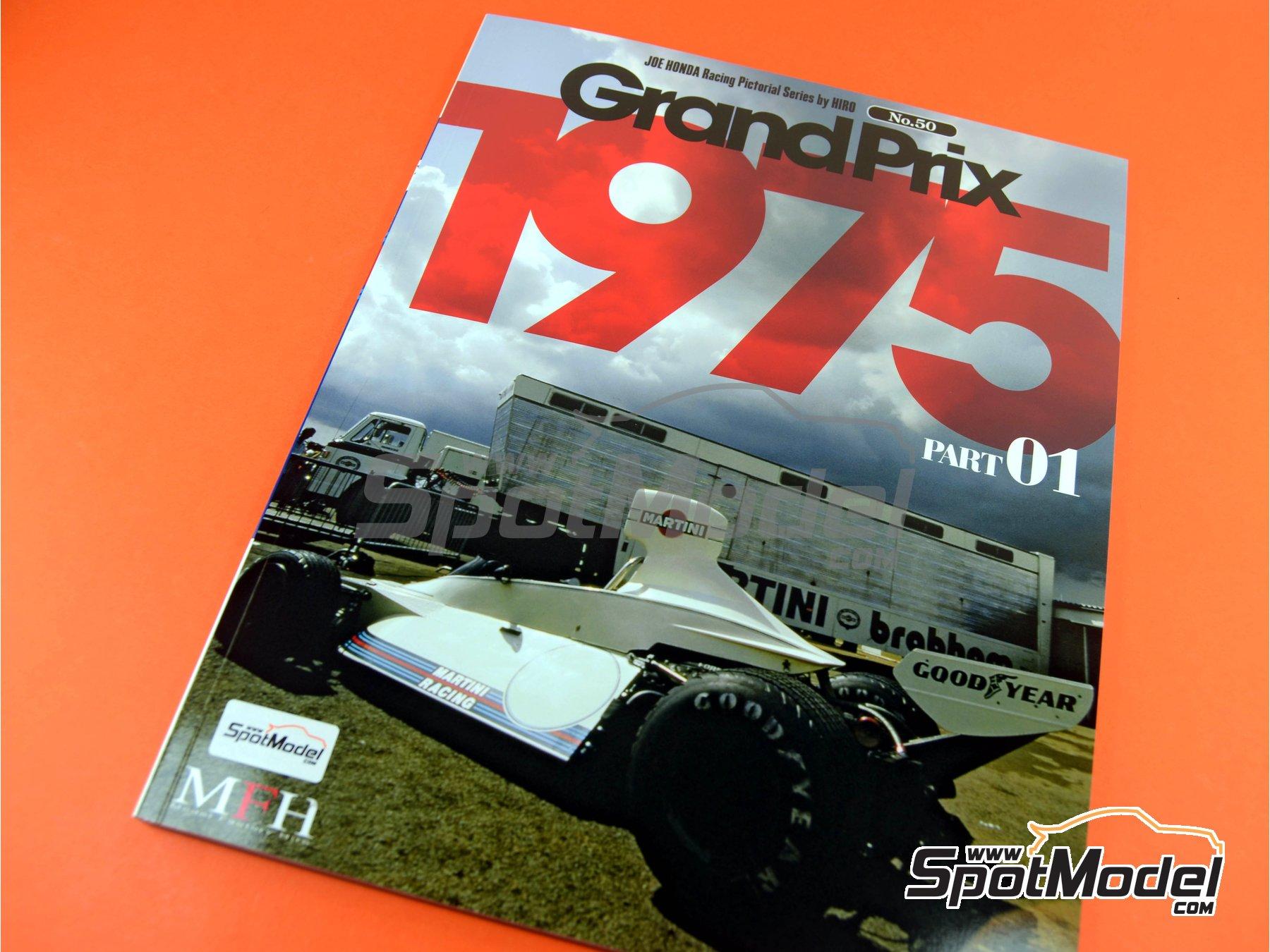 Image 1: Joe Honda Racing Pictorial Series: Grand Prix, parte 1 -  1975 | Libro de referencia fabricado por Model Factory Hiro (ref.MFH-JH50)