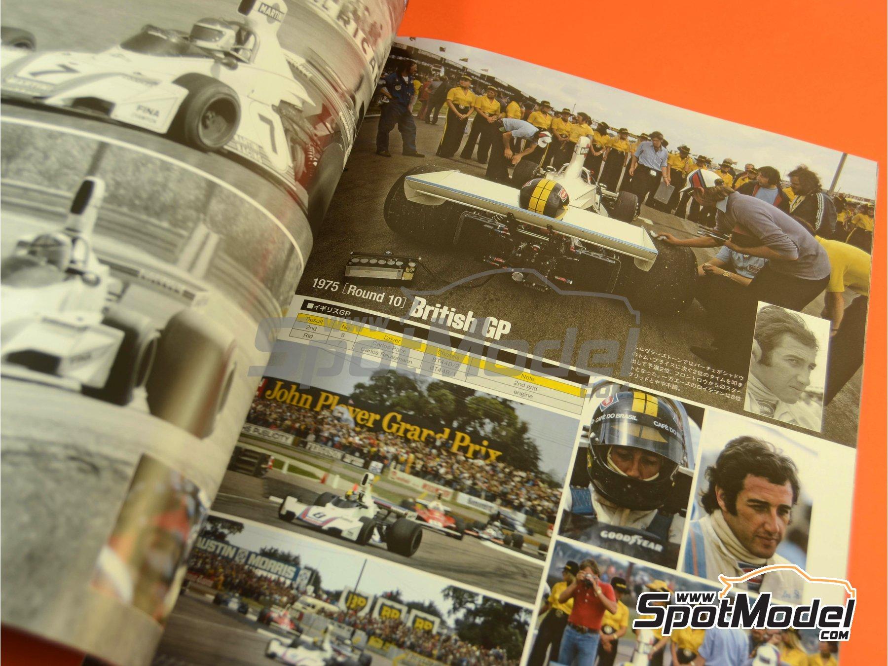 Image 4: Joe Honda Racing Pictorial Series: Grand Prix, parte 1 -  1975 | Libro de referencia fabricado por Model Factory Hiro (ref.MFH-JH50)