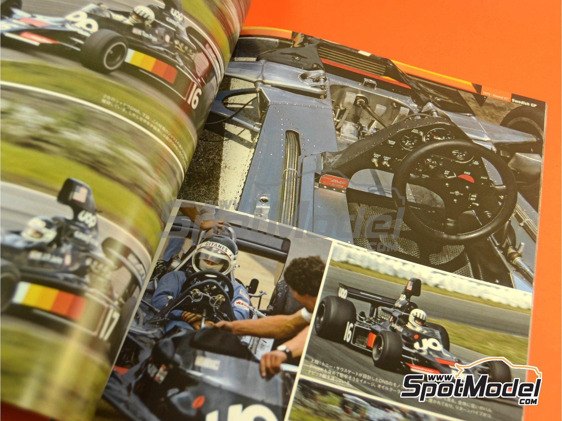 Image 6: Joe Honda Racing Pictorial Series: Grand Prix, parte 1 -  1975 | Libro de referencia fabricado por Model Factory Hiro (ref.MFH-JH50)