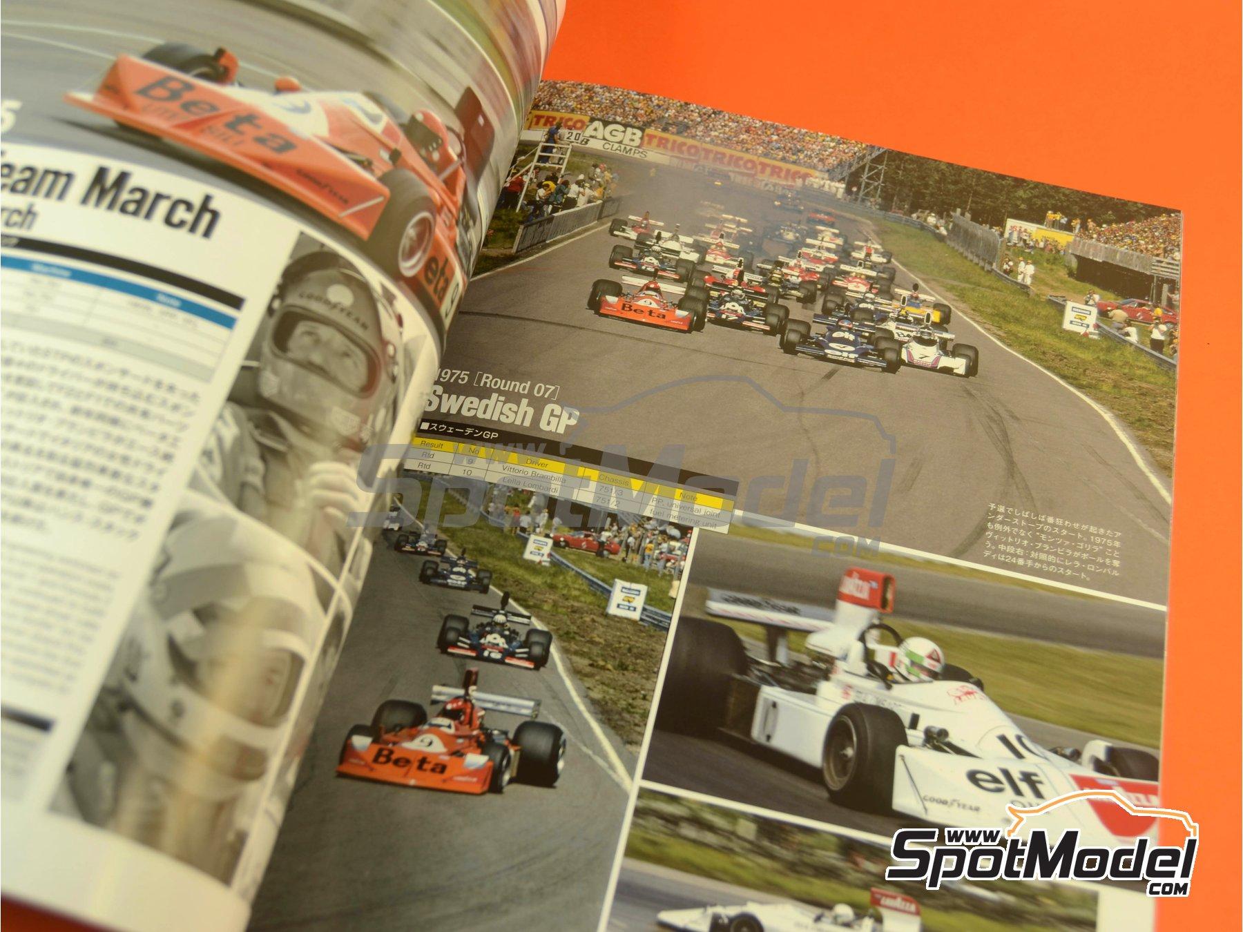 Image 8: Joe Honda Racing Pictorial Series: Grand Prix, parte 1 -  1975 | Libro de referencia fabricado por Model Factory Hiro (ref.MFH-JH50)