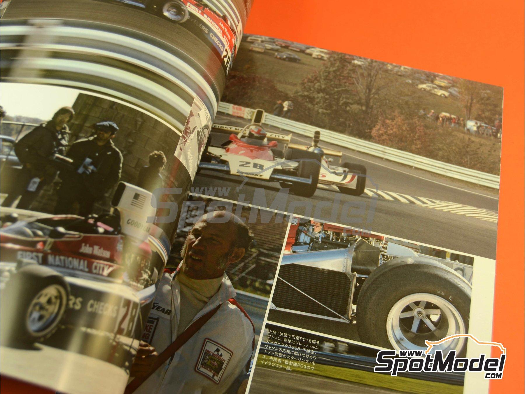 Image 9: Joe Honda Racing Pictorial Series: Grand Prix, parte 1 -  1975 | Libro de referencia fabricado por Model Factory Hiro (ref.MFH-JH50)