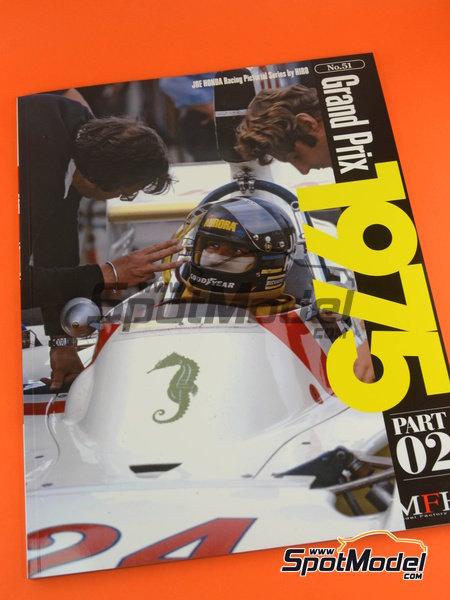 Joe Honda Racing Pictorial Series: Grand Prix, parte 2 -  1975 | Libro de referencia fabricado por Model Factory Hiro (ref.MFH-JH51) image