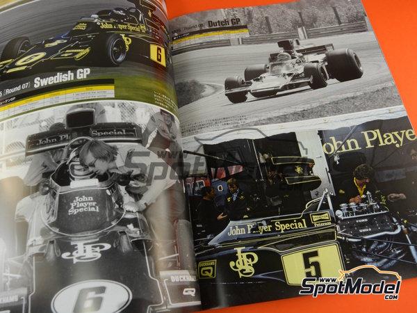 Image 4: Joe Honda Racing Pictorial Series: Grand Prix, parte 2 -  1975 | Libro de referencia fabricado por Model Factory Hiro (ref.MFH-JH51)
