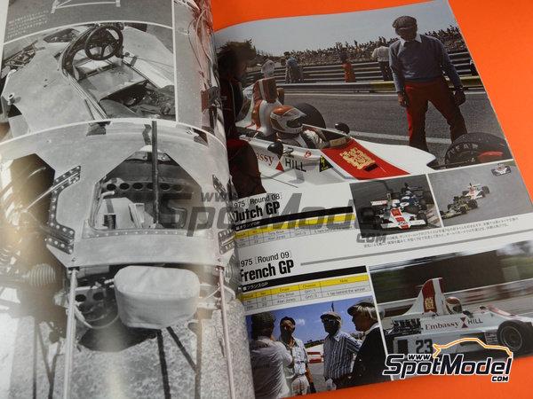 Image 5: Joe Honda Racing Pictorial Series: Grand Prix, parte 2 -  1975 | Libro de referencia fabricado por Model Factory Hiro (ref.MFH-JH51)