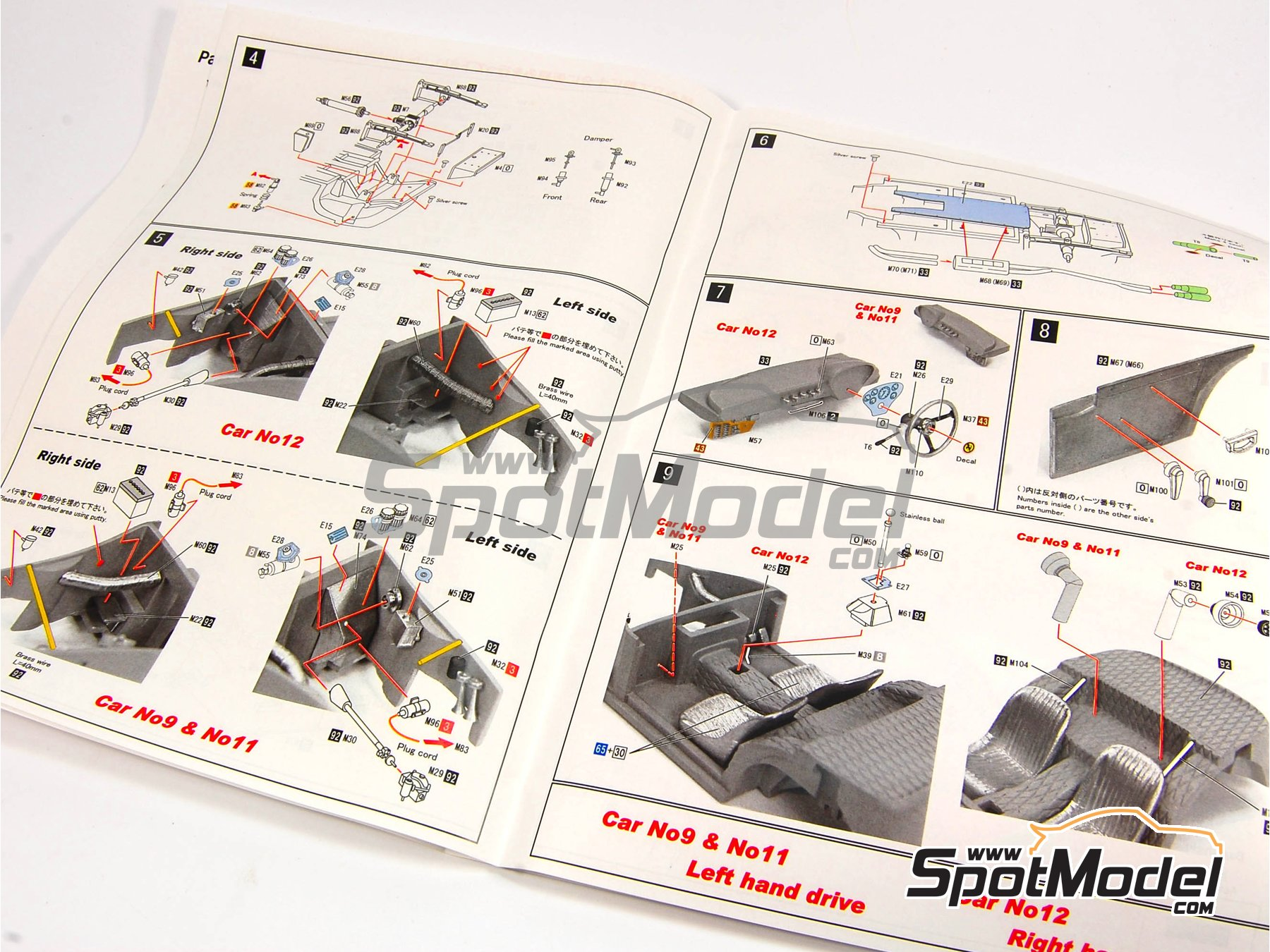 Image 2: Ferrari 330LMB - 24 Hours Le Mans 1963 | Model car kit in 1/24 scale manufactured by Model Factory Hiro (ref. MFH-K292)
