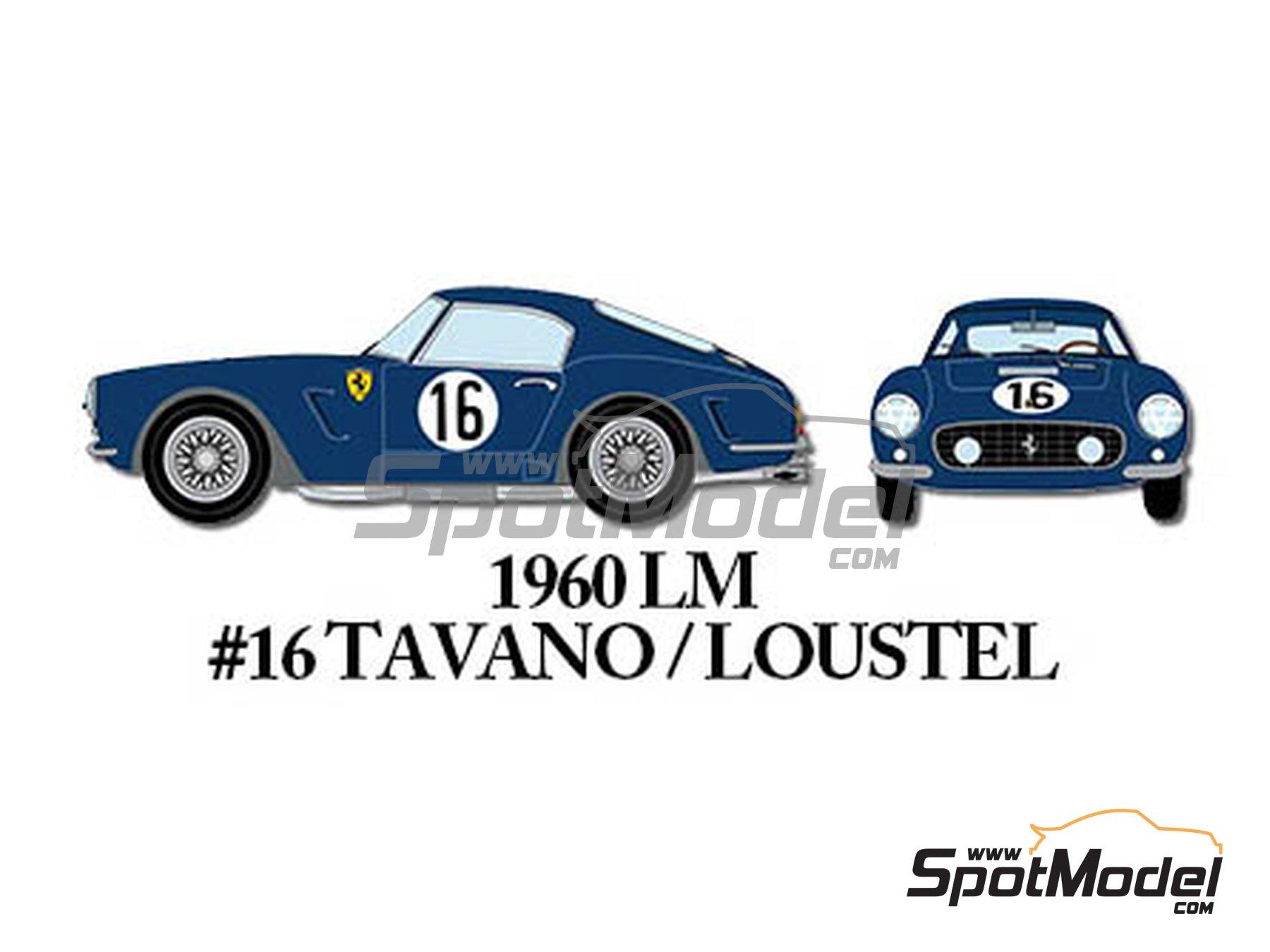 Image 5: Ferrari 250GT SWB Early - 24 Horas de Le Mans, Tour de France Automobile 1960 | Maqueta de coche en escala1/24 fabricado por Model Factory Hiro (ref.MFH-K293)