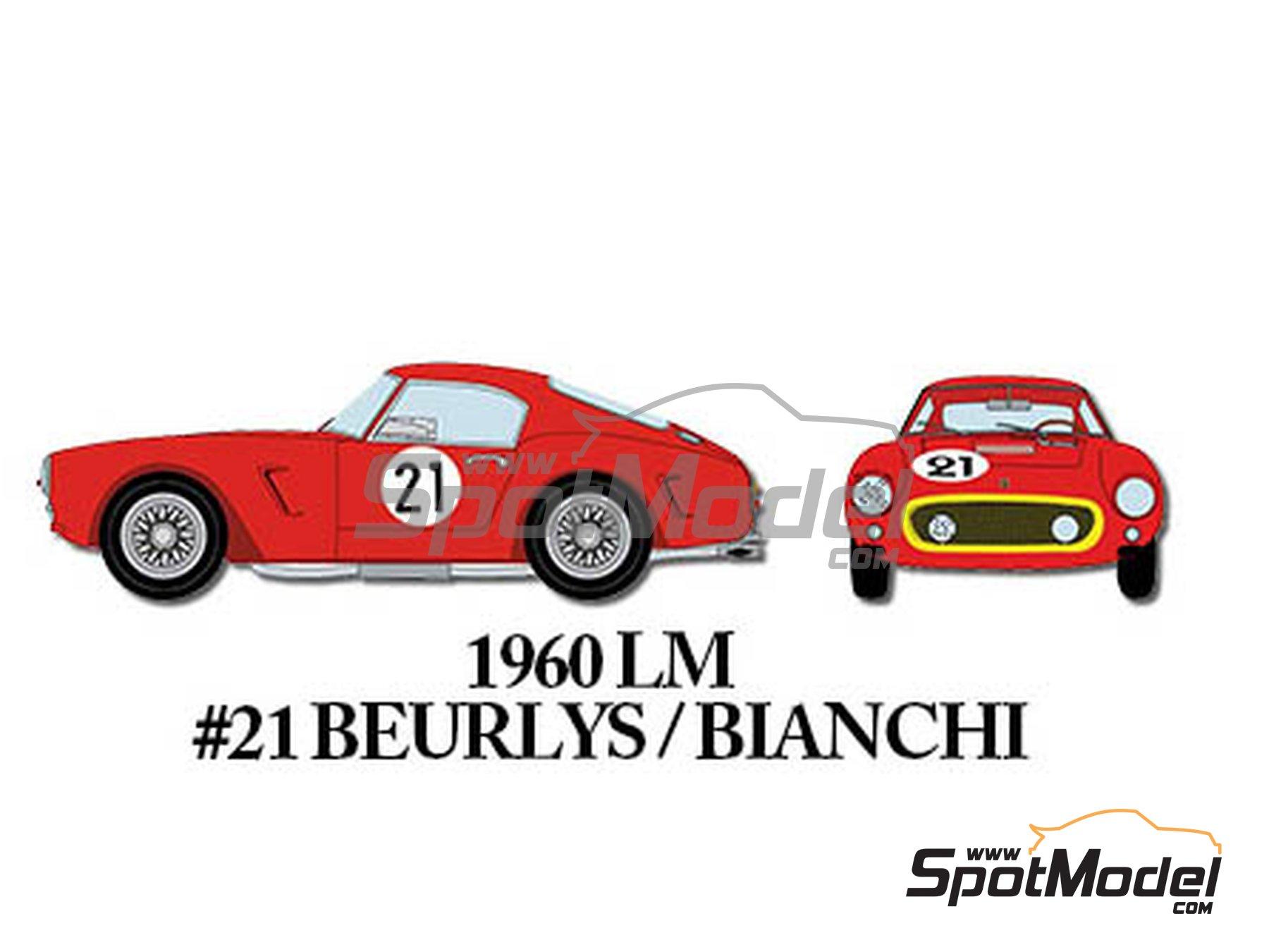 Image 6: Ferrari 250GT SWB Early - 24 Horas de Le Mans, Tour de France Automobile 1960 | Maqueta de coche en escala1/24 fabricado por Model Factory Hiro (ref.MFH-K293)