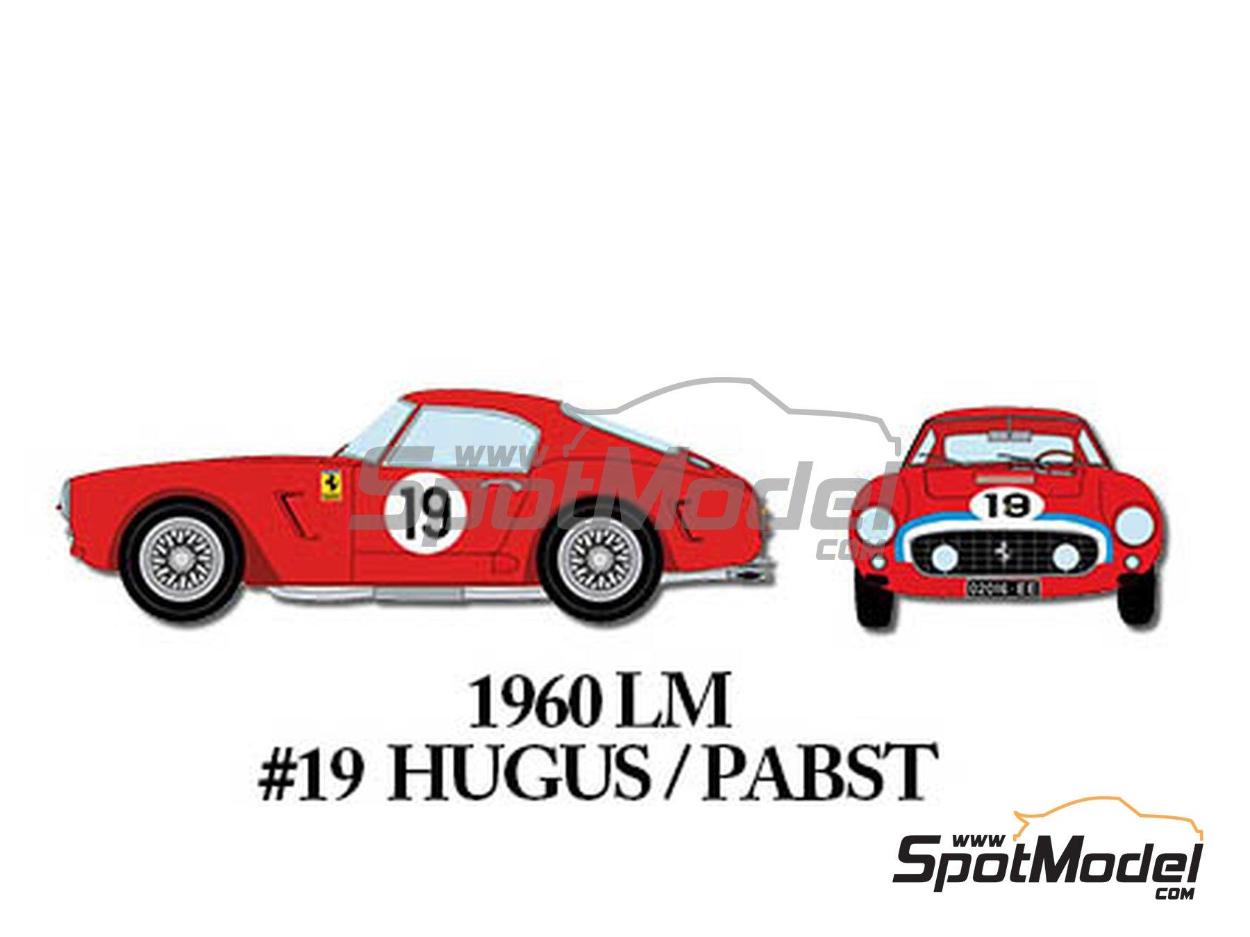 Image 7: Ferrari 250GT SWB Early - 24 Horas de Le Mans, Tour de France Automobile 1960 | Maqueta de coche en escala1/24 fabricado por Model Factory Hiro (ref.MFH-K293)