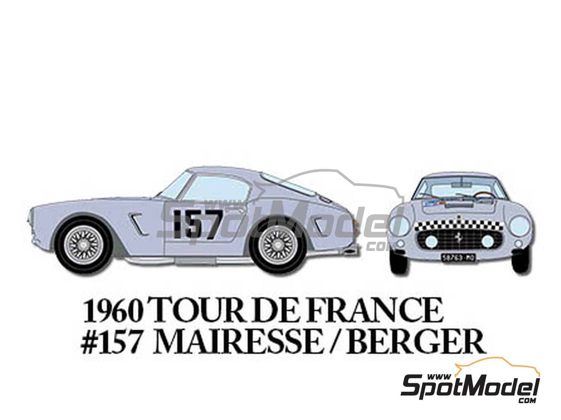 Image 8: Ferrari 250GT SWB Early - 24 Horas de Le Mans, Tour de France Automobile 1960 | Maqueta de coche en escala1/24 fabricado por Model Factory Hiro (ref.MFH-K293)