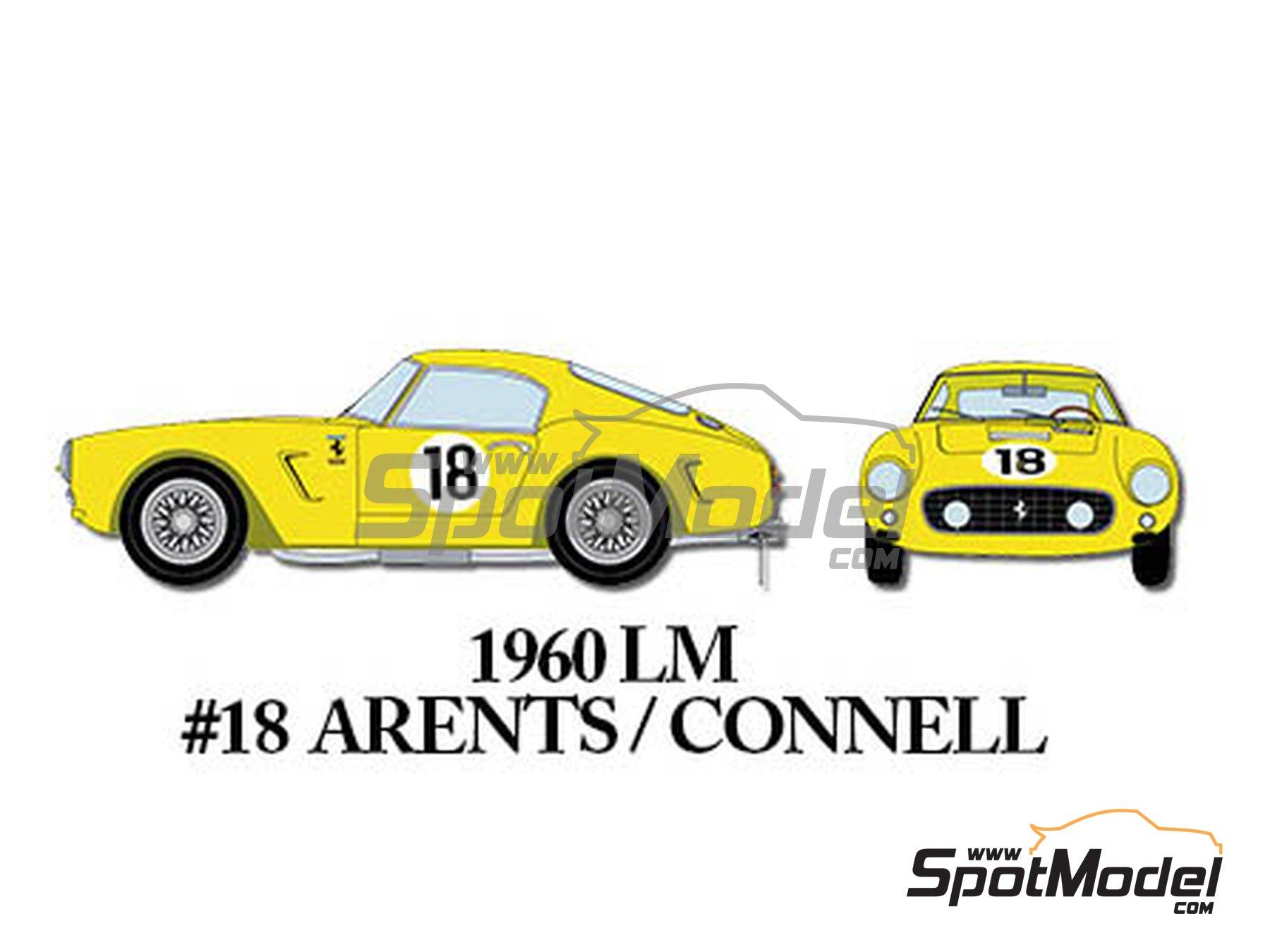 Image 9: Ferrari 250GT SWB Early - 24 Horas de Le Mans, Tour de France Automobile 1960 | Maqueta de coche en escala1/24 fabricado por Model Factory Hiro (ref.MFH-K293)