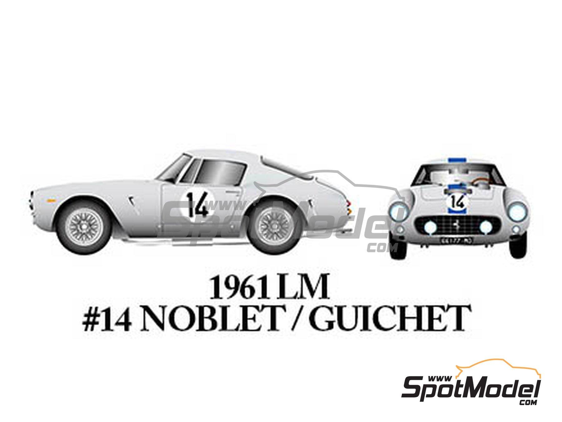 Image 5: Ferrari 250GT SWB Late - 24 Horas de Le Mans, Tour de France Automobile, RAC Tourist Trophy 1961 | Maqueta de coche en escala1/24 fabricado por Model Factory Hiro (ref.MFH-K294)