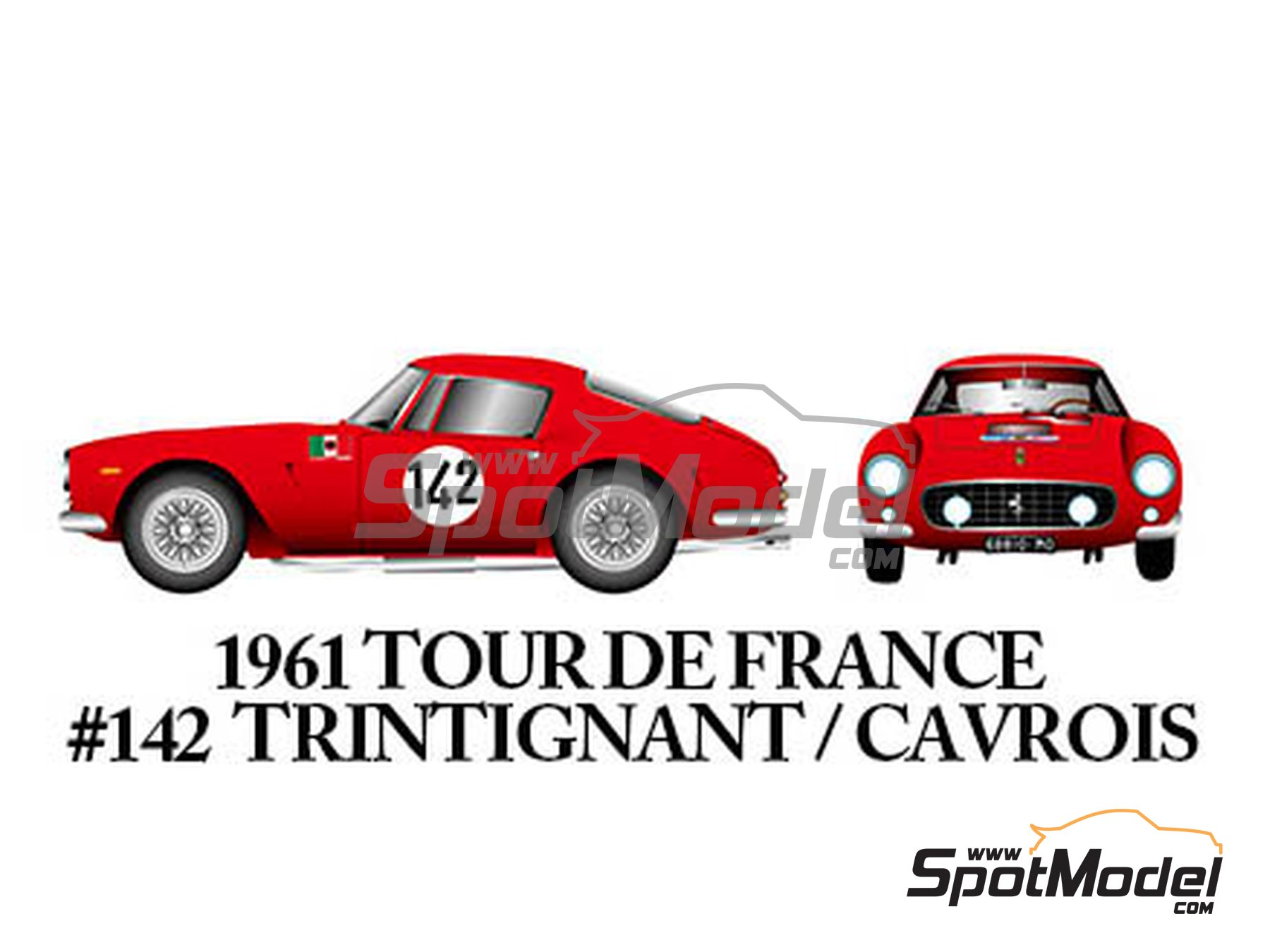 Image 6: Ferrari 250GT SWB Late - 24 Horas de Le Mans, Tour de France Automobile, RAC Tourist Trophy 1961 | Maqueta de coche en escala1/24 fabricado por Model Factory Hiro (ref.MFH-K294)