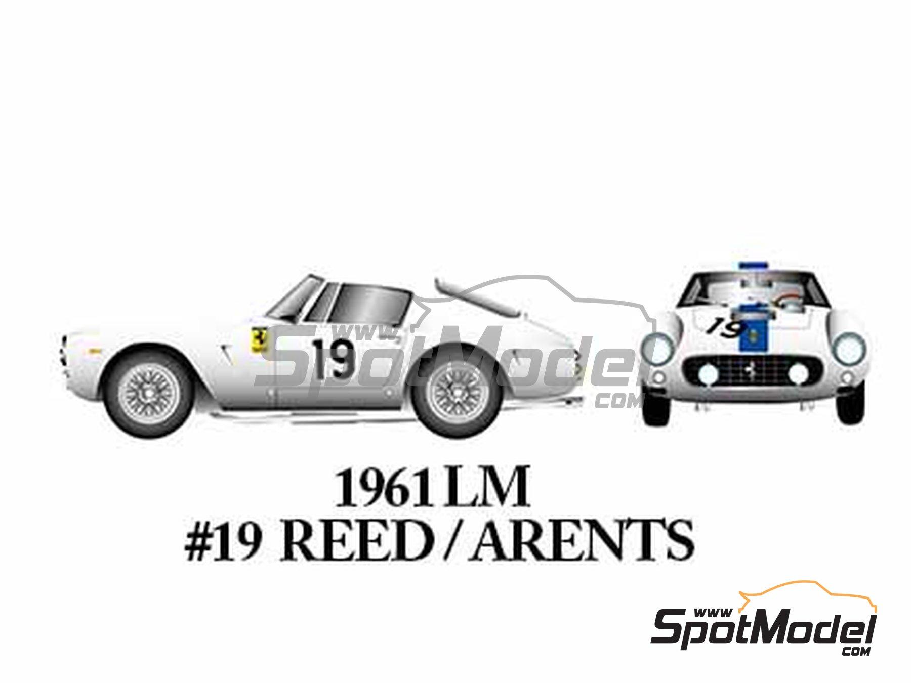 Image 7: Ferrari 250GT SWB Late - 24 Horas de Le Mans, Tour de France Automobile, RAC Tourist Trophy 1961 | Maqueta de coche en escala1/24 fabricado por Model Factory Hiro (ref.MFH-K294)