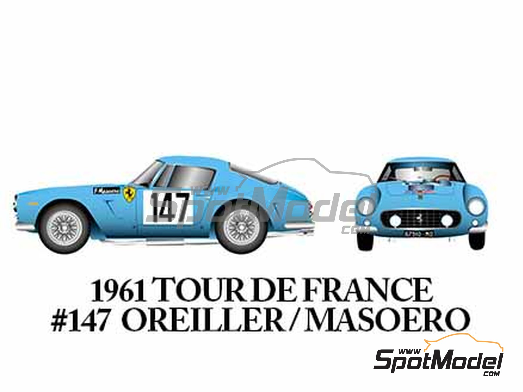 Image 8: Ferrari 250GT SWB Late - 24 Horas de Le Mans, Tour de France Automobile, RAC Tourist Trophy 1961 | Maqueta de coche en escala1/24 fabricado por Model Factory Hiro (ref.MFH-K294)