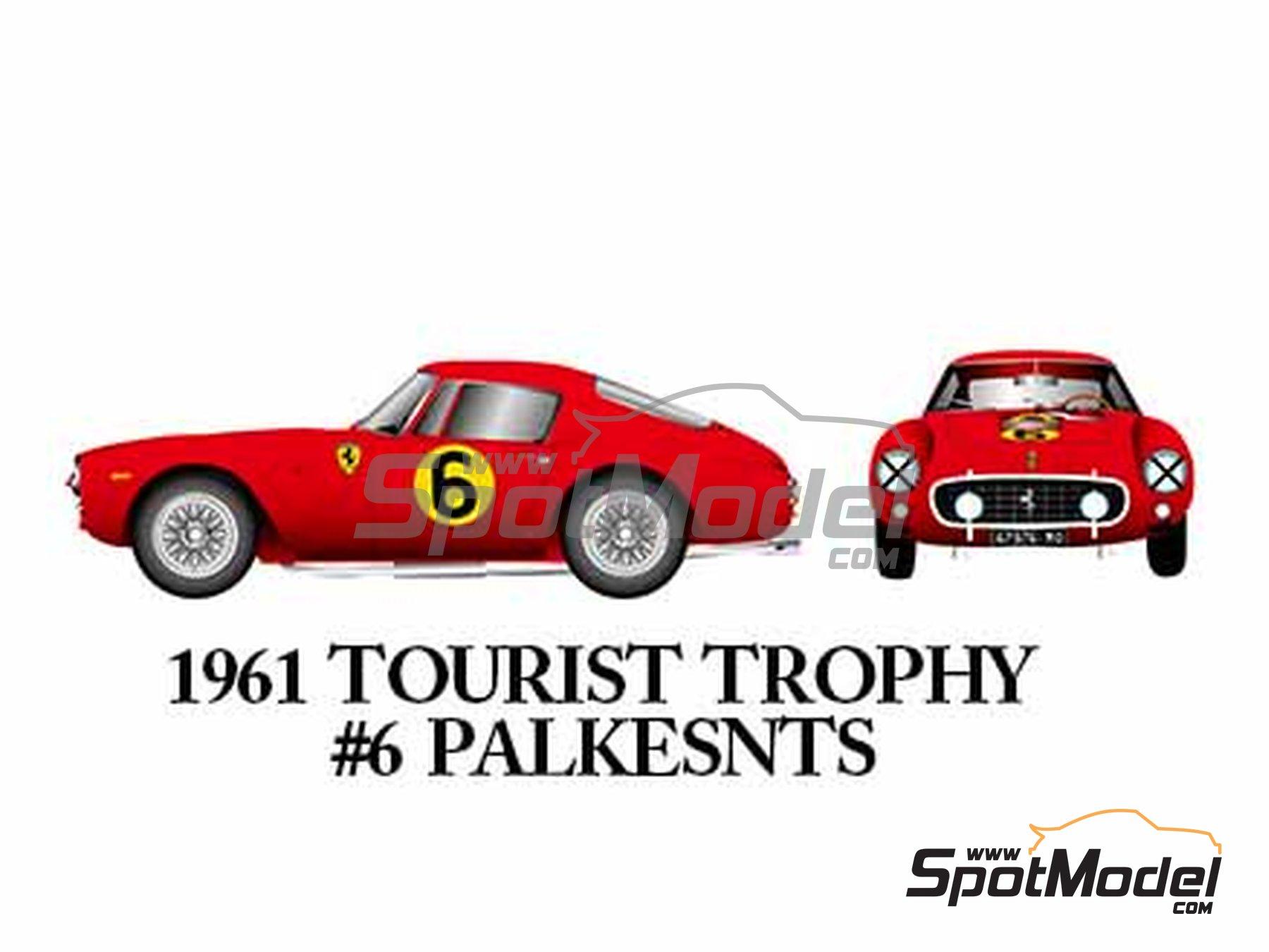 Image 9: Ferrari 250GT SWB Late - 24 Horas de Le Mans, Tour de France Automobile, RAC Tourist Trophy 1961 | Maqueta de coche en escala1/24 fabricado por Model Factory Hiro (ref.MFH-K294)