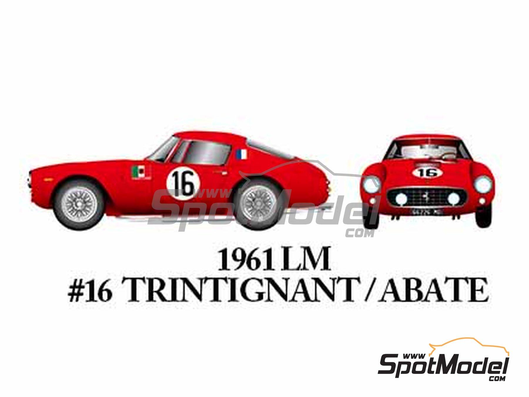 Image 10: Ferrari 250GT SWB Late - 24 Horas de Le Mans, Tour de France Automobile, RAC Tourist Trophy 1961 | Maqueta de coche en escala1/24 fabricado por Model Factory Hiro (ref.MFH-K294)
