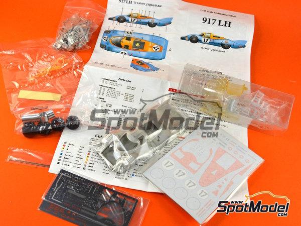 Image 21: Porsche 917 LH Gulf - 24 Horas de Le Mans 1971 | Maqueta de coche en escala1/43 fabricado por Model Factory Hiro (ref.MFH-K348)