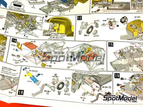 Image 25: Porsche 917 LH Gulf - 24 Horas de Le Mans 1971 | Maqueta de coche en escala1/43 fabricado por Model Factory Hiro (ref.MFH-K348)