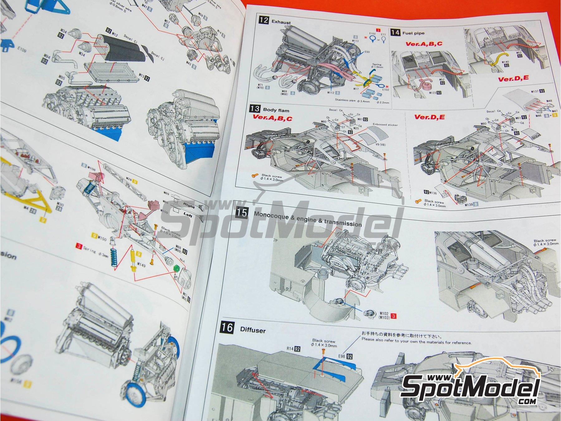 Image 27: McLaren F1 GTR Mach One - 24 Horas de Le Mans 1995 | Maqueta de coche en escala1/24 fabricado por Model Factory Hiro (ref.MFH-K360, tambien K-360)