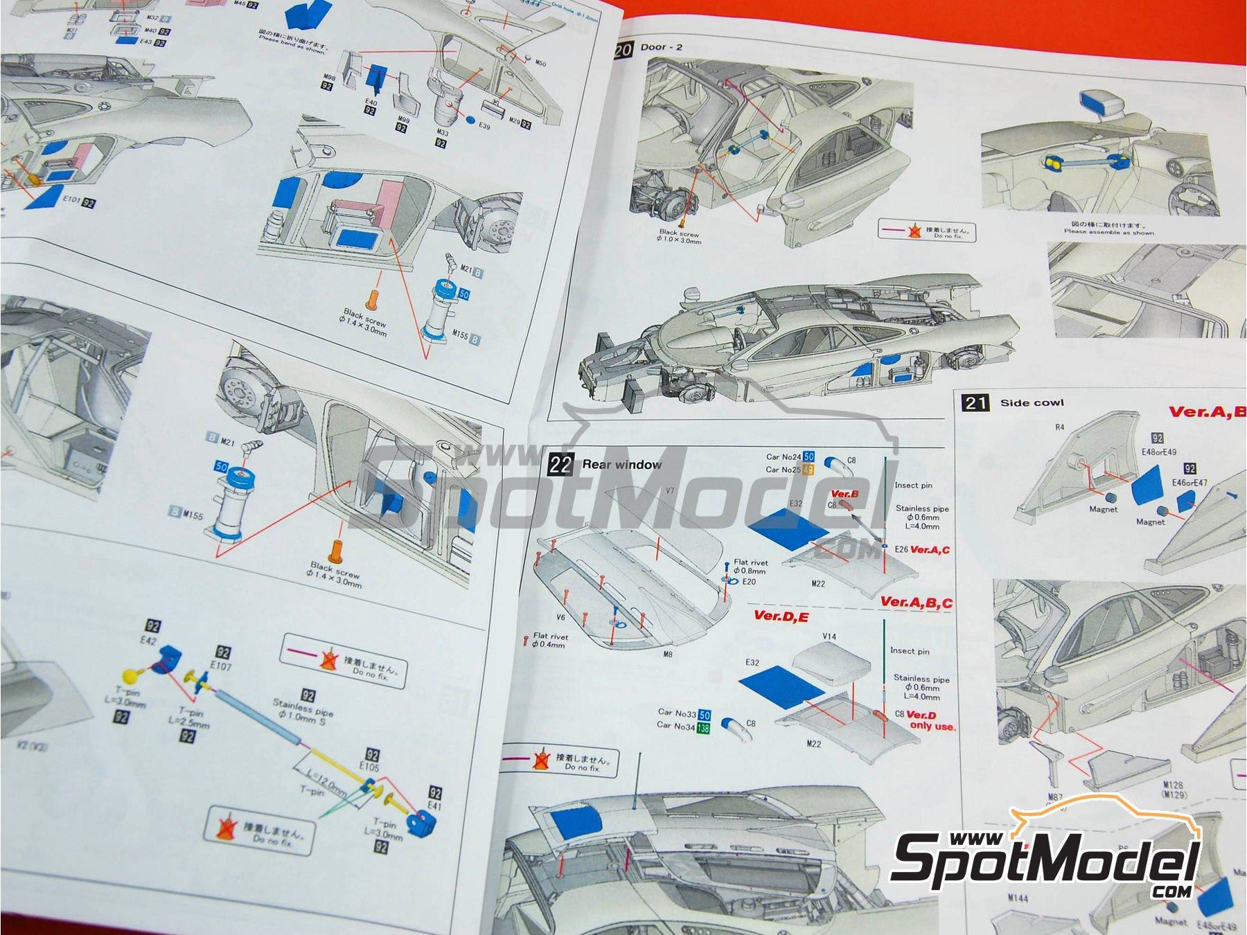 Image 28: McLaren F1 GTR Mach One - 24 Horas de Le Mans 1995 | Maqueta de coche en escala1/24 fabricado por Model Factory Hiro (ref.MFH-K360, tambien K-360)