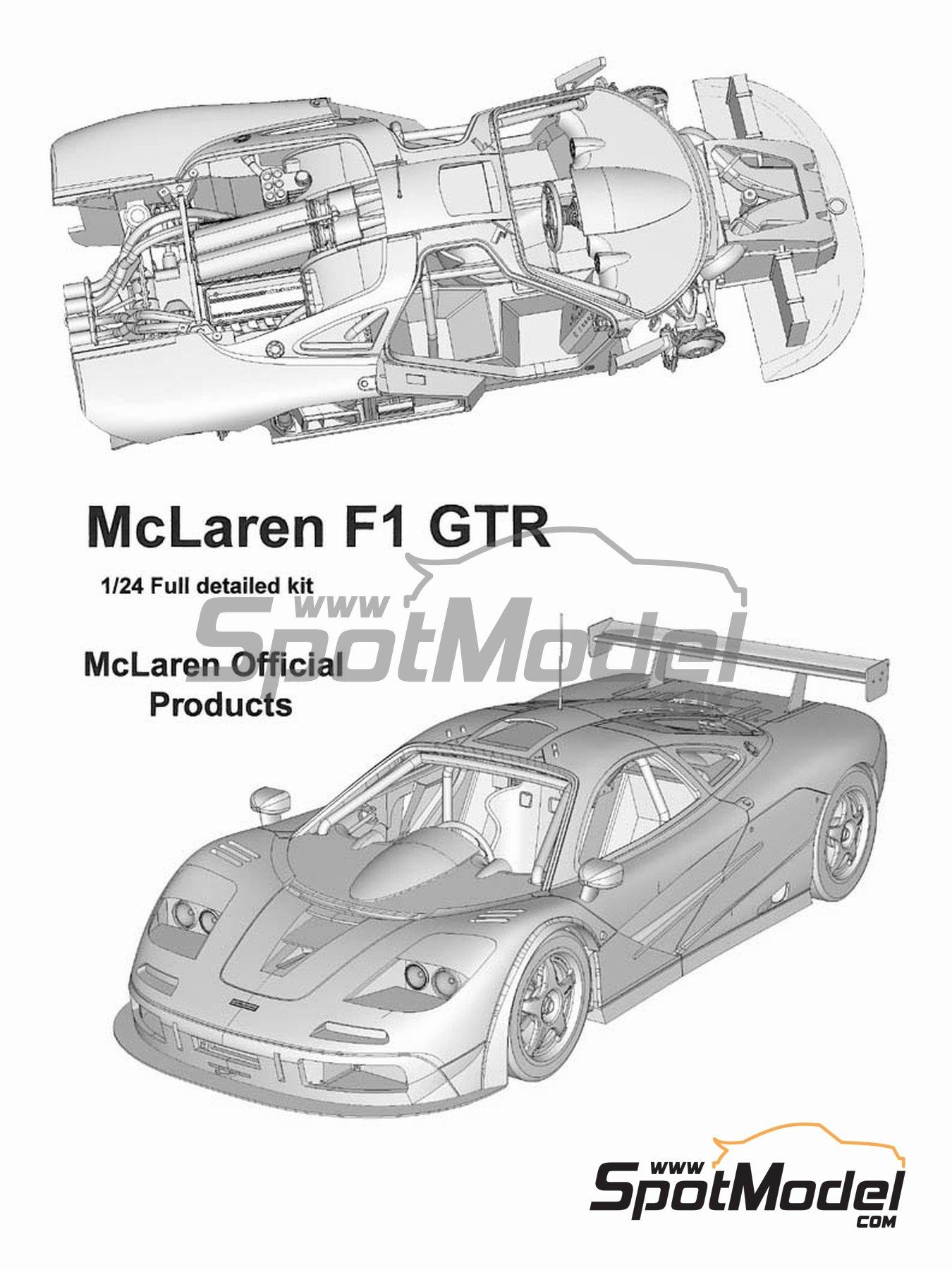 McLaren F1 GTR Gulf - 24 Horas de Le Mans 1996 | Maqueta de coche en escala1/24 fabricado por Model Factory Hiro (ref.MFH-K361, tambien K-361) image