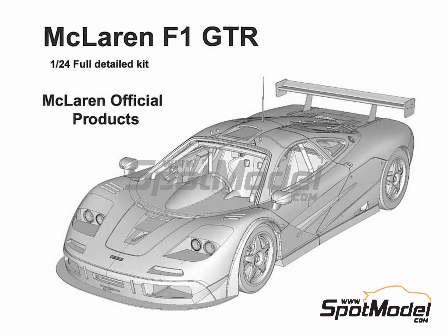 Image 1: McLaren F1 GTR Gulf - 24 Horas de Le Mans 1996 | Maqueta de coche en escala1/24 fabricado por Model Factory Hiro (ref.MFH-K361, tambien K-361)