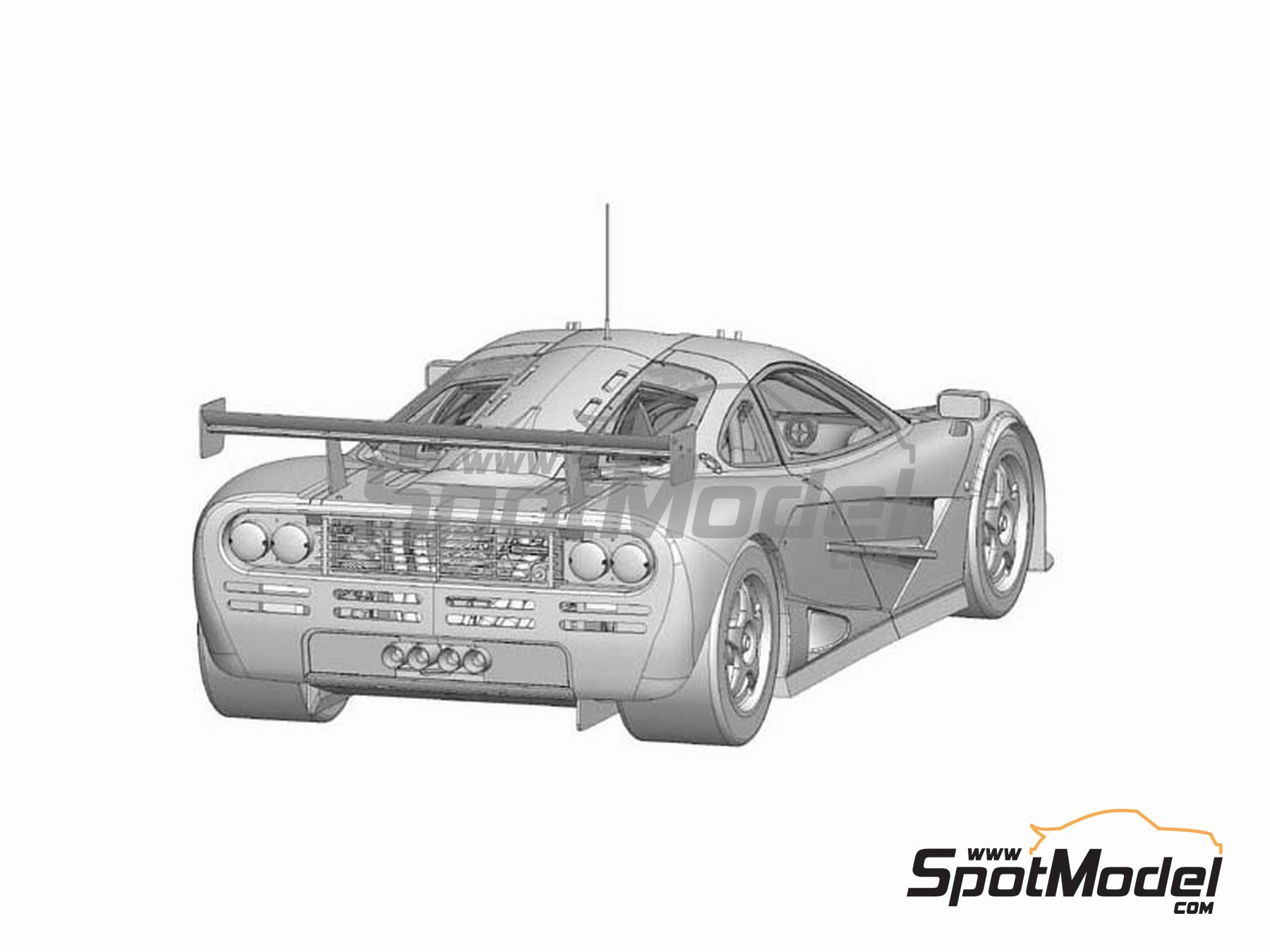 Image 2: McLaren F1 GTR Gulf - 24 Horas de Le Mans 1996 | Maqueta de coche en escala1/24 fabricado por Model Factory Hiro (ref.MFH-K361, tambien K-361)
